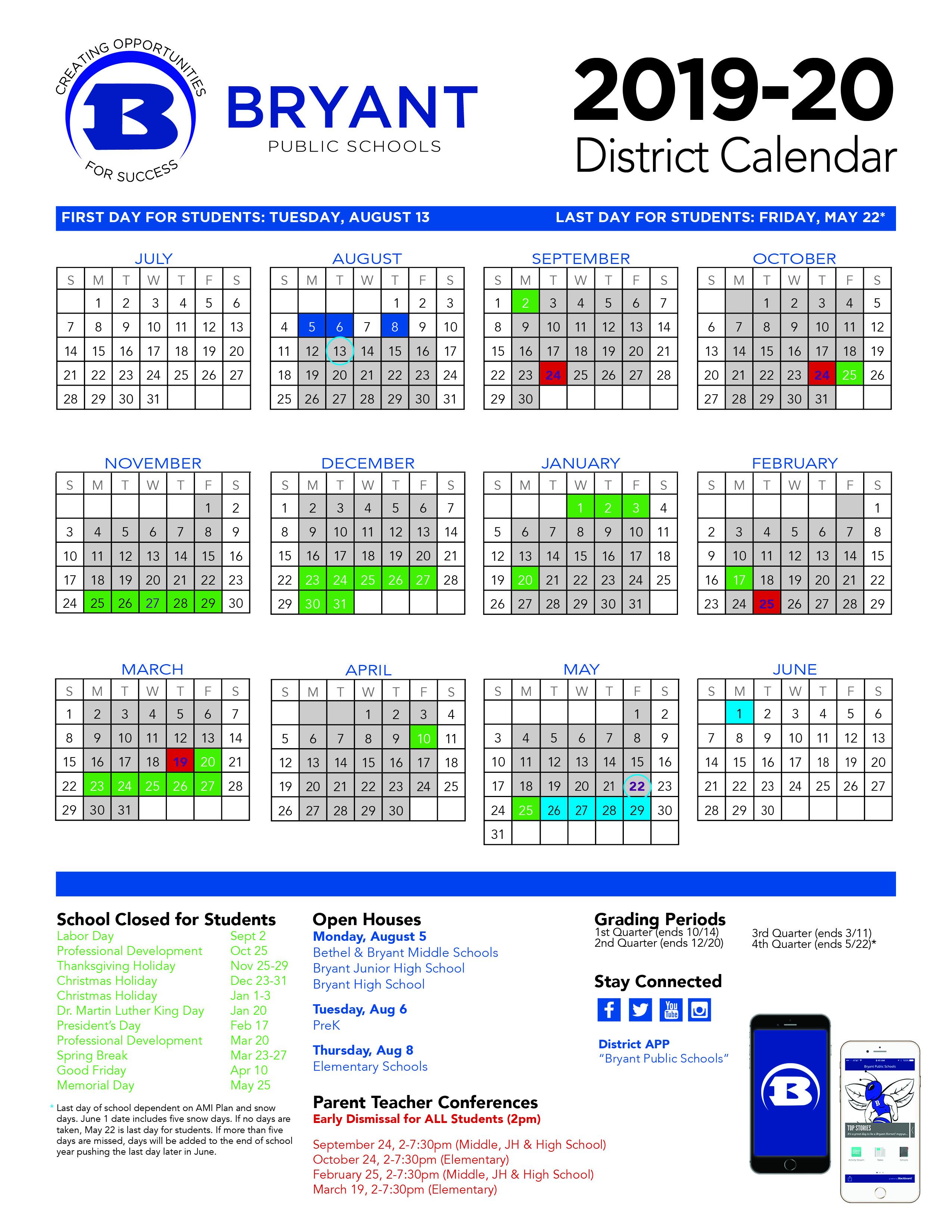 Success Happens Here January 2019 – Bryant Public Schools For Pine Bluff School District Calendar