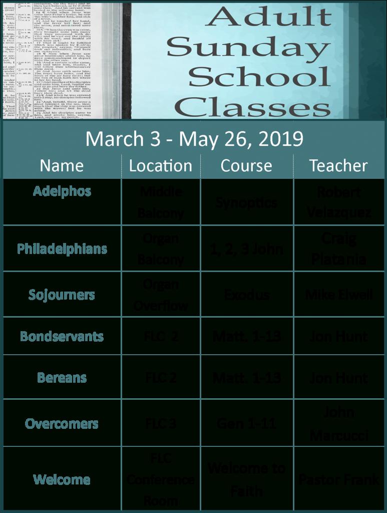 Sunday School All Ages – Faith Bible Church Intended For North Penn School District Calendar 2021 20