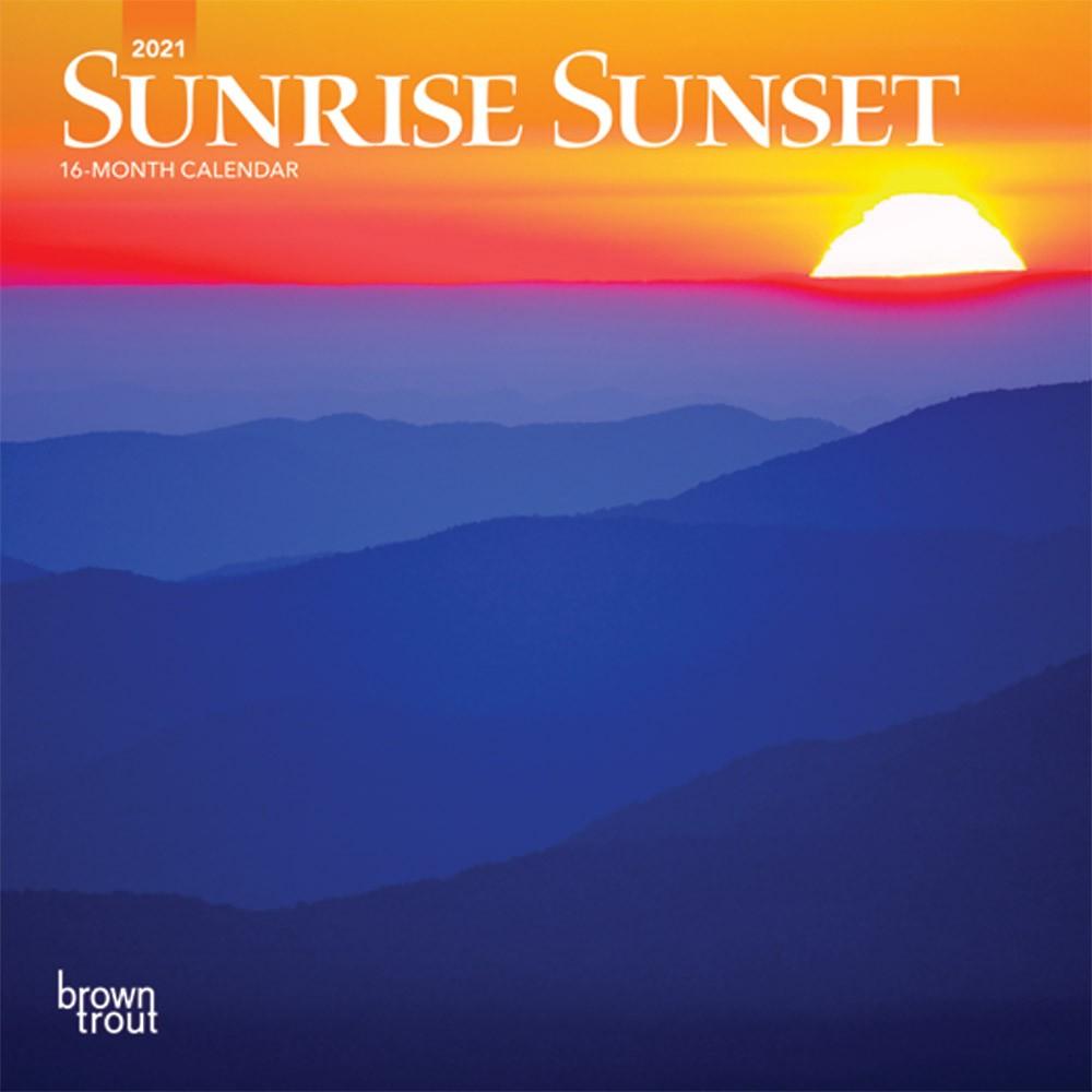 Sunrise Sunset 2021 7 X 7 Inch Monthly Mini Wall Calendar Intended For Sunrise And Sunset Calendar 2021