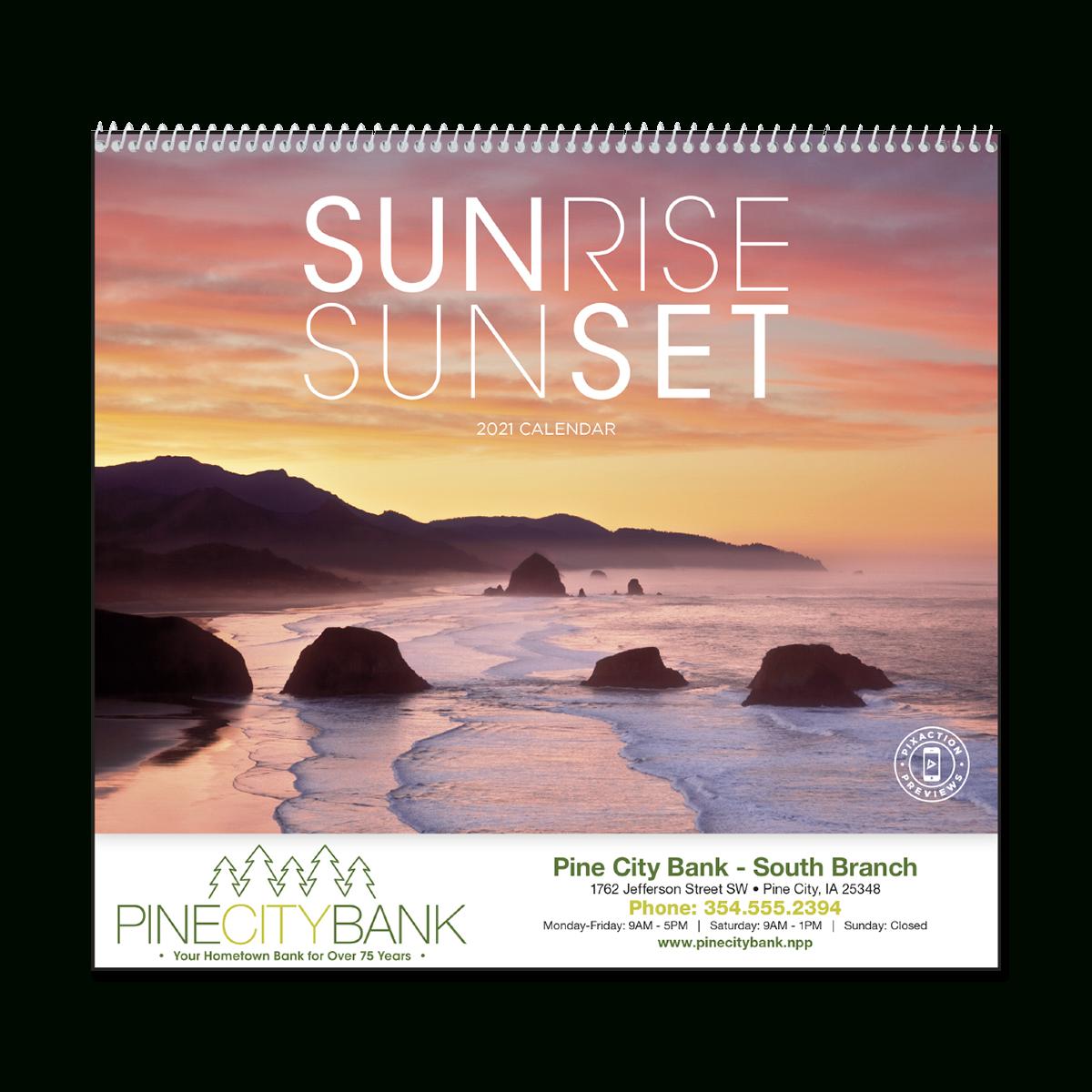 Sunrise Sunset Wall Calendar Throughout Sunrise And Sunset Calendar 2021
