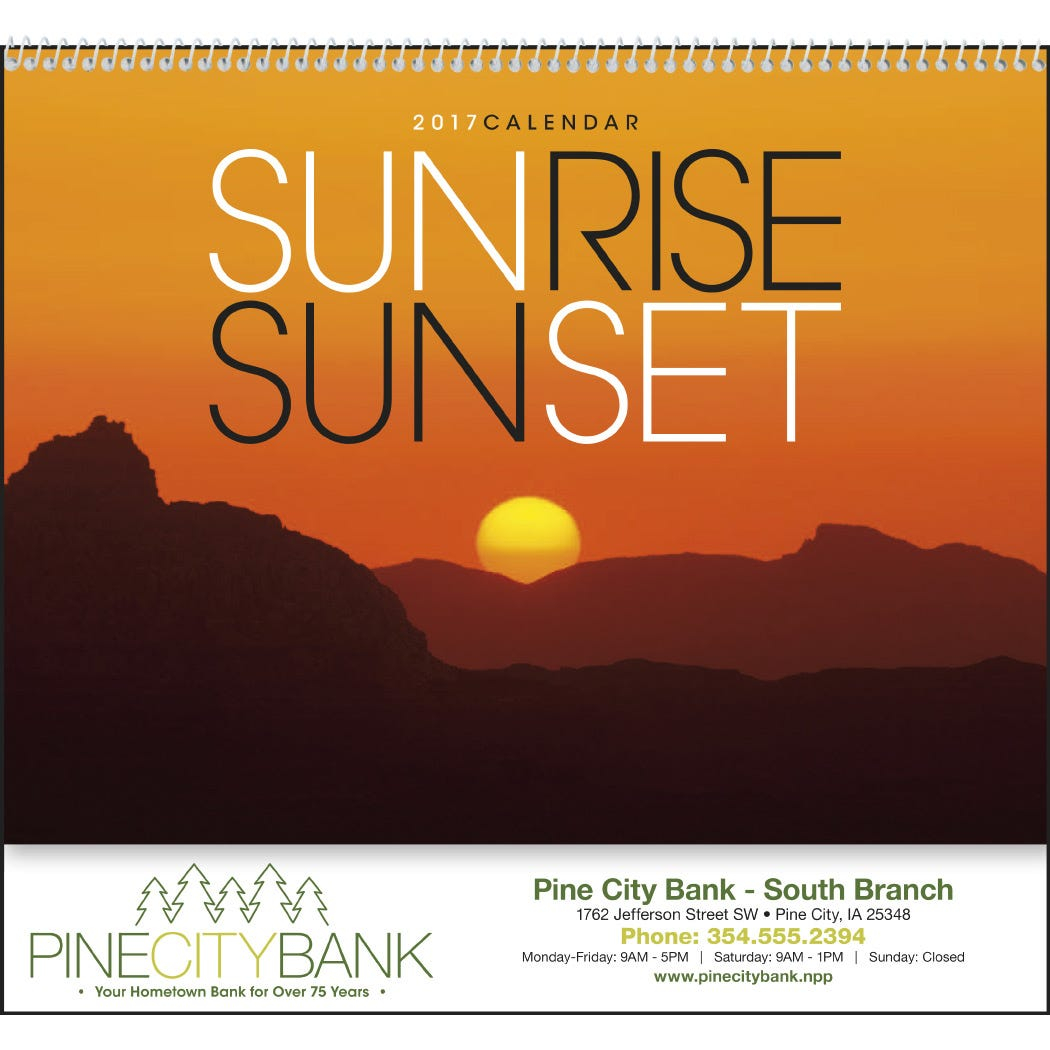 Sunsets Appointment Calendar (2021) Pertaining To Sunrise And Sunset Calendar 2021