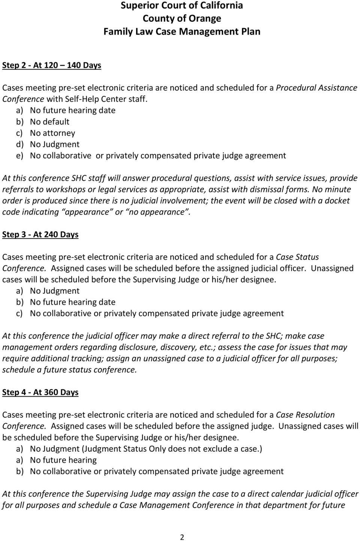 Superior Court Of California County Of Orange Family Law For Orange County Superior Court Departmental Calendar