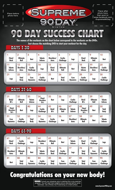 Supreme 90 Day Calendar | Supreme 90 Day Workout, 90 Day inside Supreme 90 Day Calendar Pdf