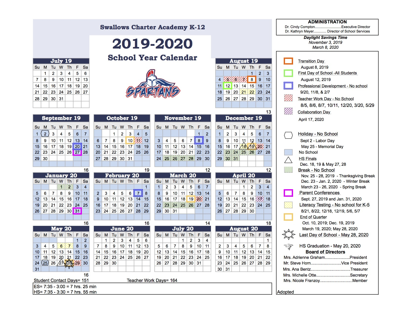 Swallows Charter Academy Intended For District 20 Colorado Springs Calendar