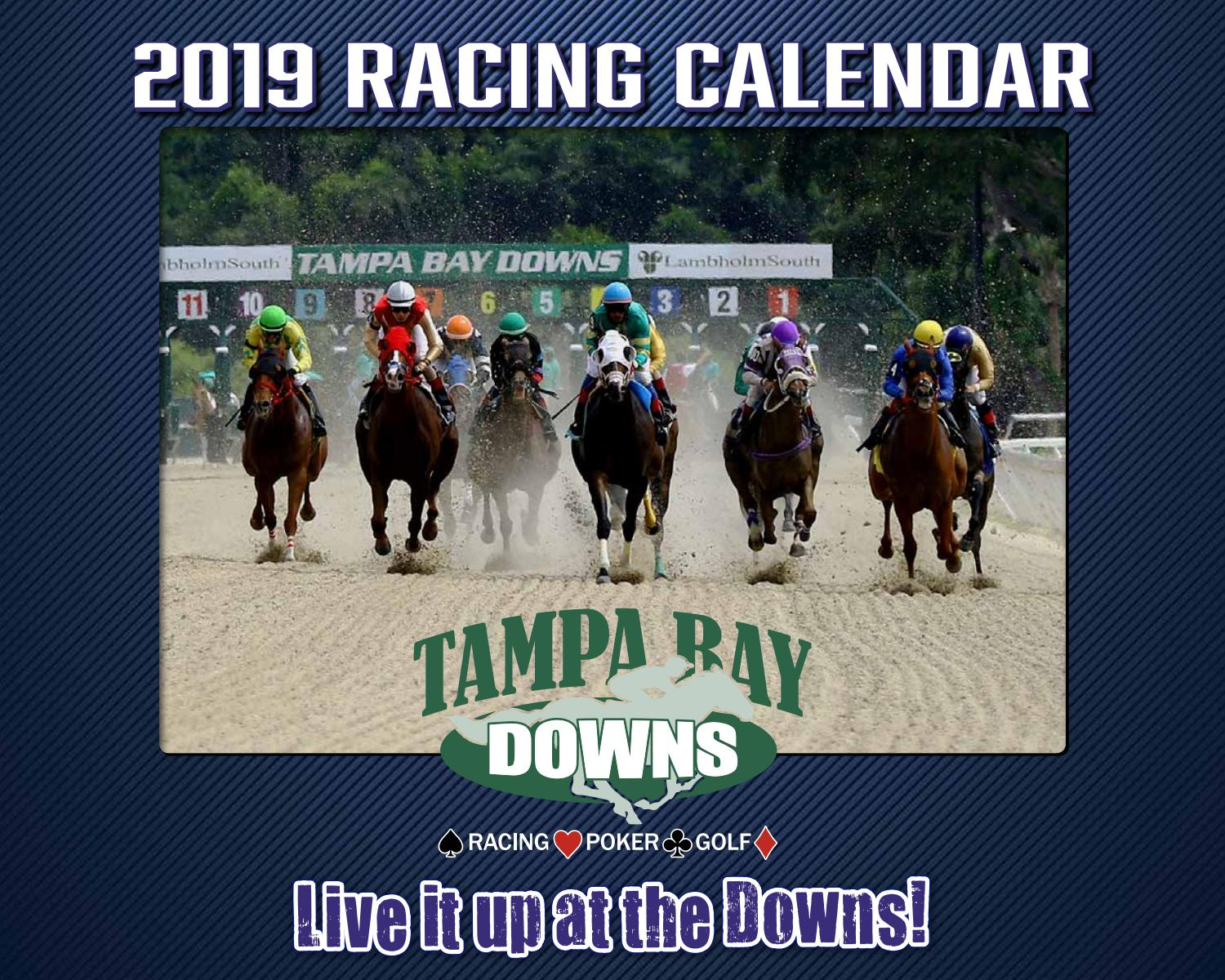 Tampa Bay Downs 2019 Race Calendarstrops Marketing - Issuu Pertaining To Tampa Bay Downs Schedule 2020