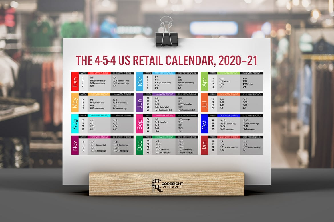 The 4 5 4 Us Retail Calendar, 2020–21   Coresight Research Intended For 4 5 4 Retail Calendar 2021