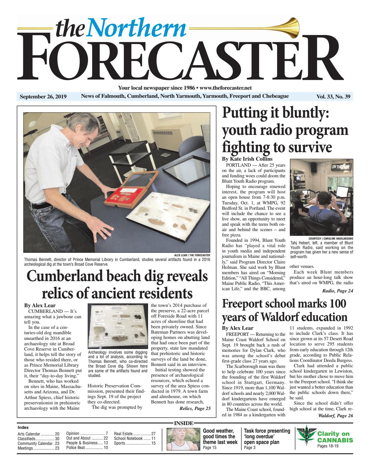 The Forecaster, Northern Edition, September 26, 2019The For Davidson County Tn School Calendar20