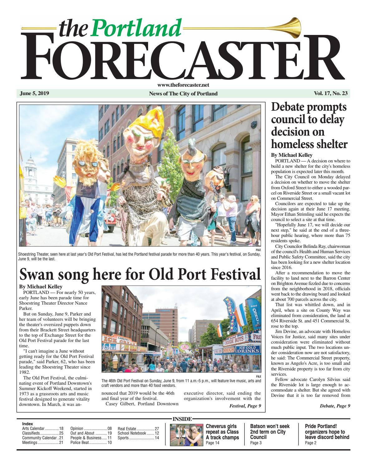 The Forecaster, Portland Edition, June 5, 2019The For Caesar Rodney School District Calendar At A Glance
