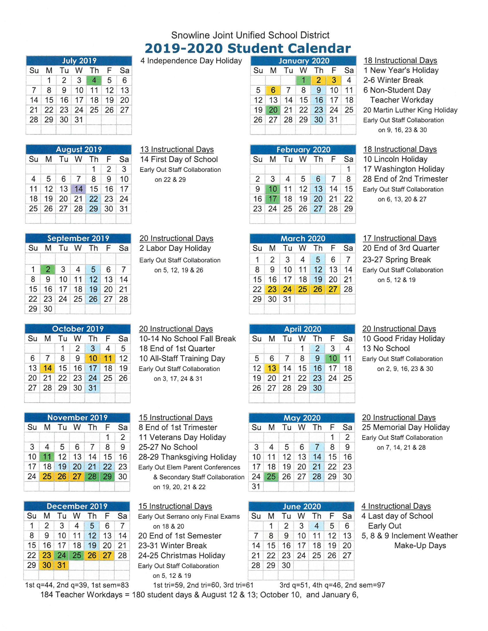 The Heritage School For Victorville School District Class Schedule
