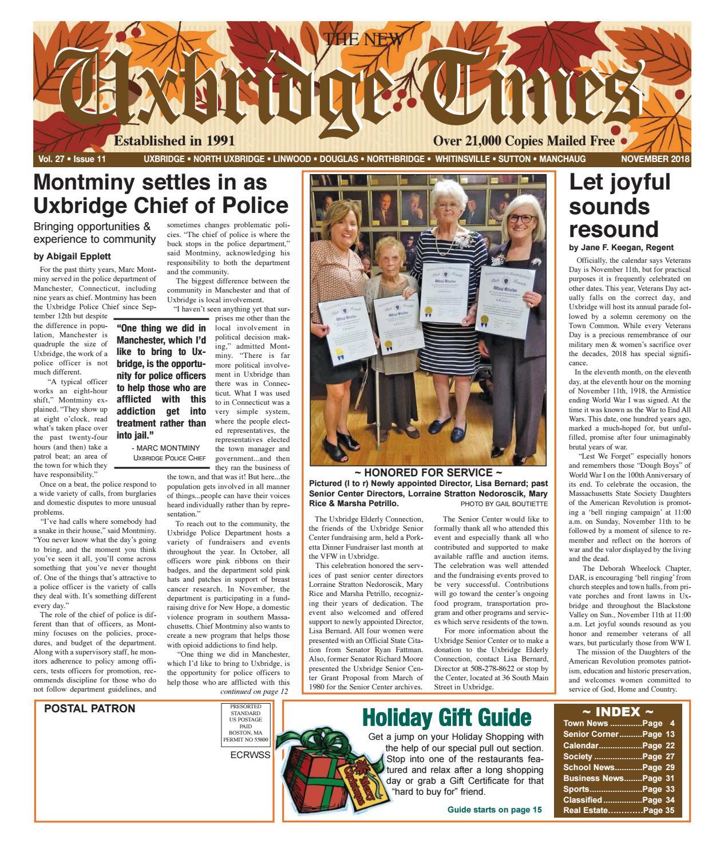 The New Uxbridge Times - November, 2019The New Uxbridge In Turning Stone Bingo Calendar 2021 November