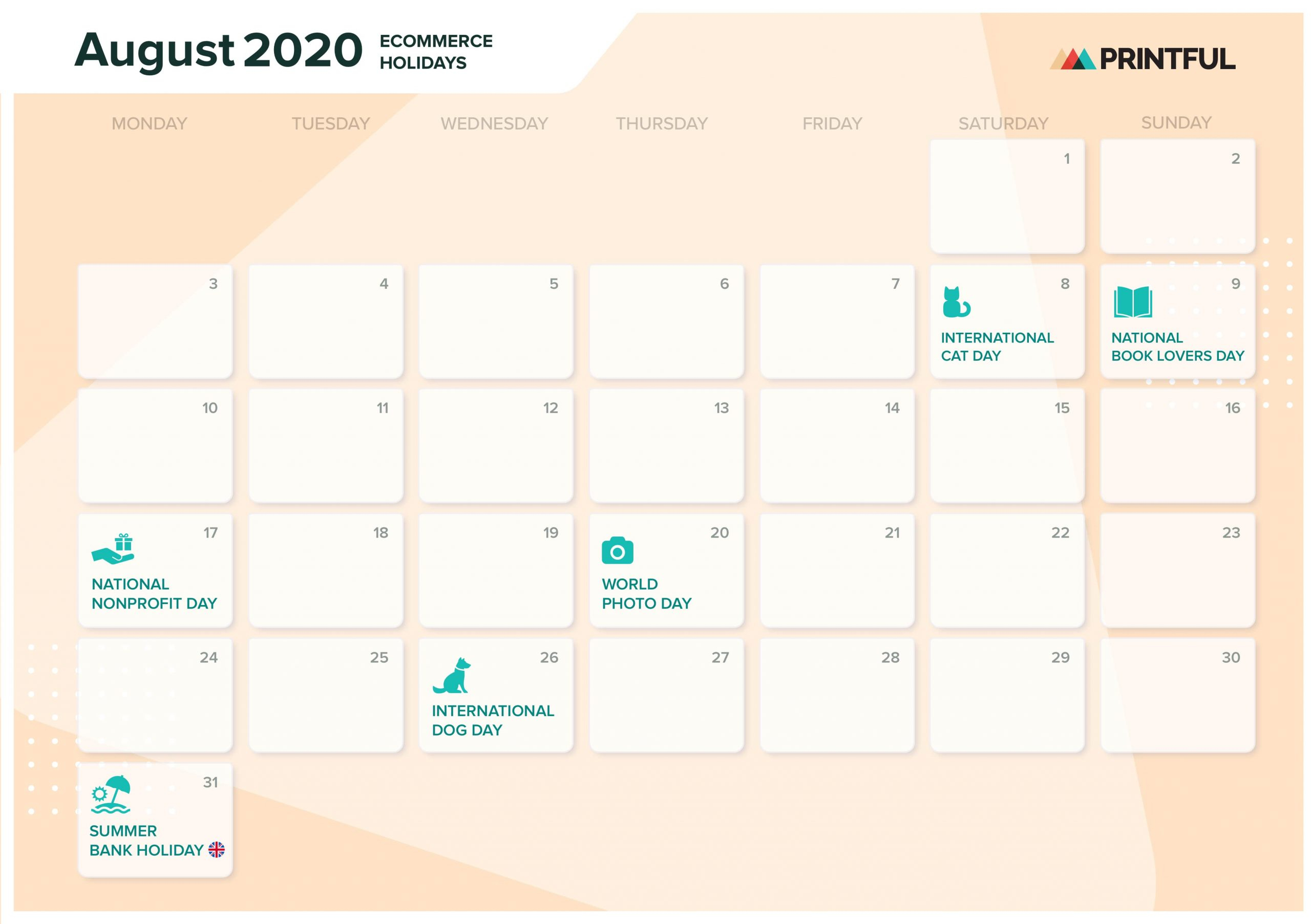 The Ultimate 2020 Ecommerce Holiday Marketing Calendar Throughout Mexican Calendar 2021 With St Names