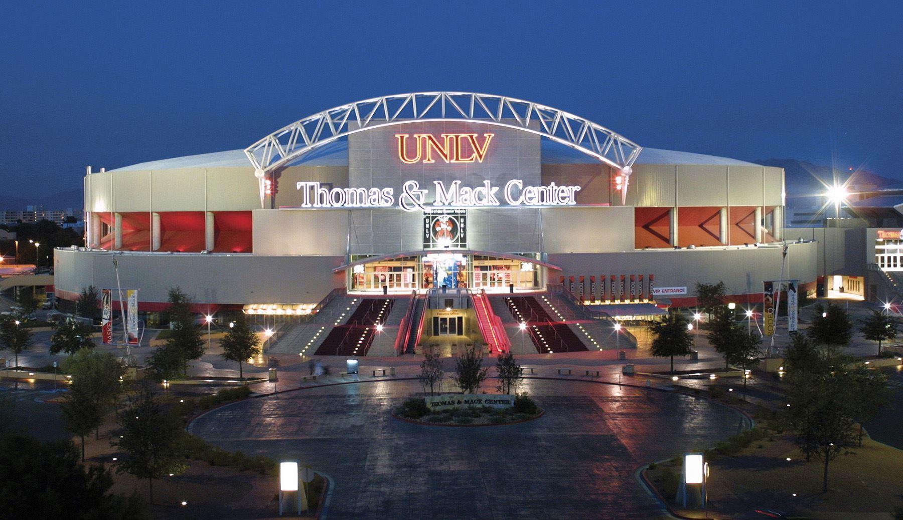 Thomas & Mack Center regarding Thomas And Mack Events Calendar