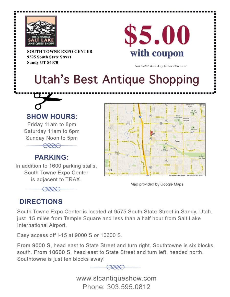 Top Antique Shows In Denver, Des Moines And Salt Lake City! Regarding South Town Expo Schedule Utah