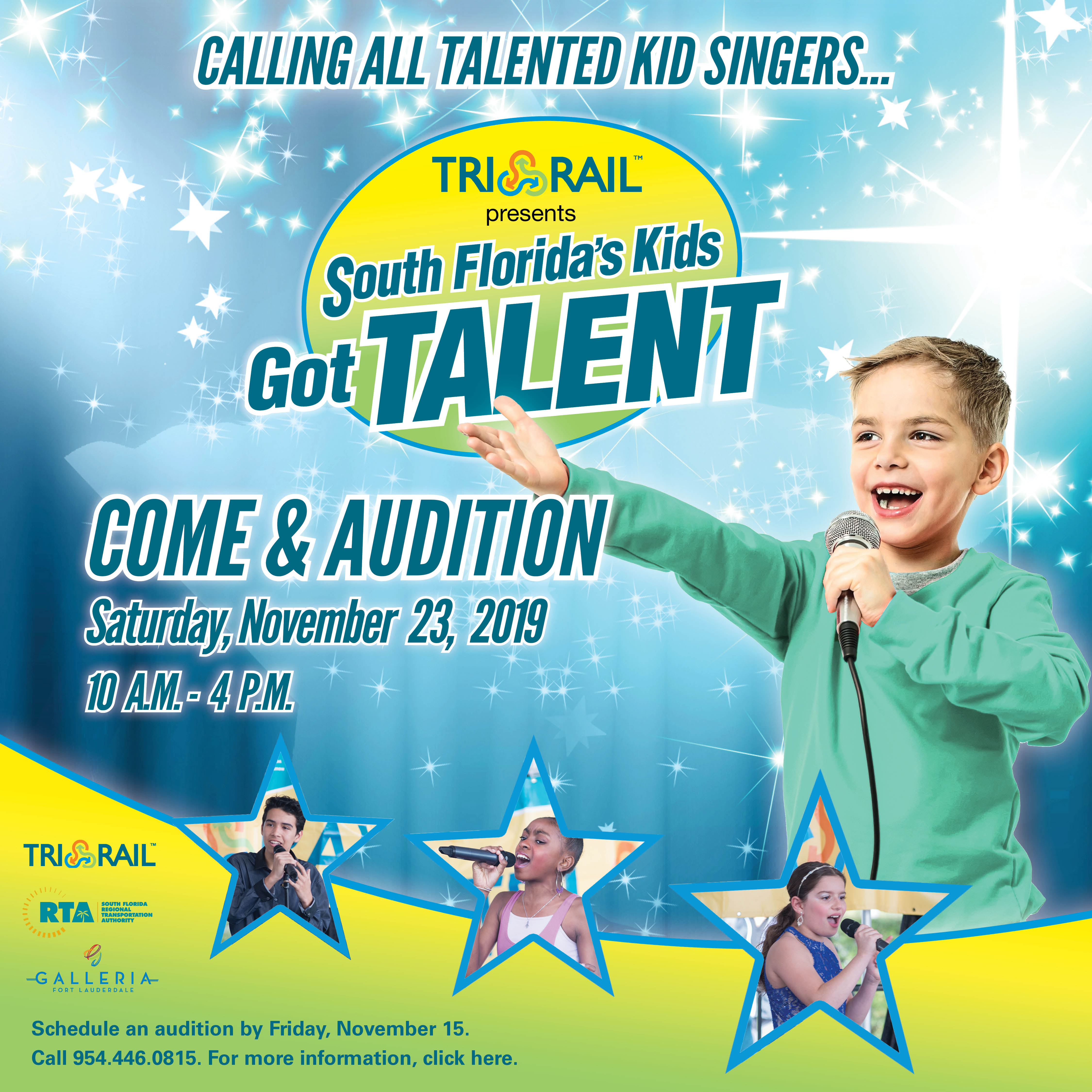 """Tri Rail To Host Auditions For """"South Florida Kids Got Talent With South Florida Fairgrounds Events Calendar"""
