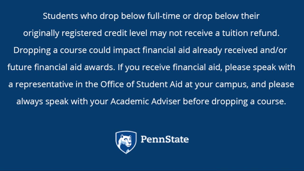 Tuition Adjustment Calendar   Penn State Altoona Regarding Penn State Altoona School Calendar