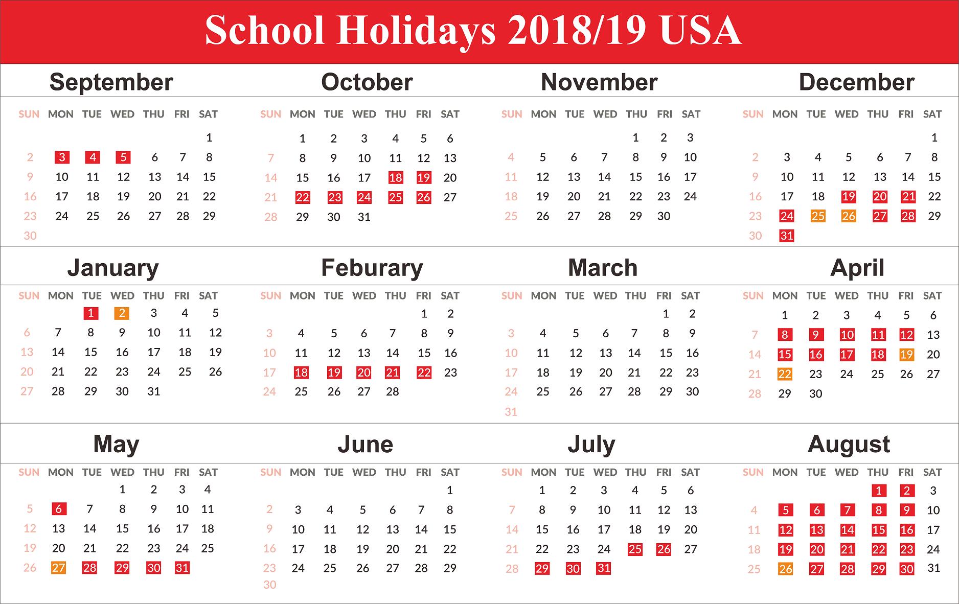 Us Holidays 2020 | School Calendar, School Holiday Calendar with Uri Academic Calendar Holiday