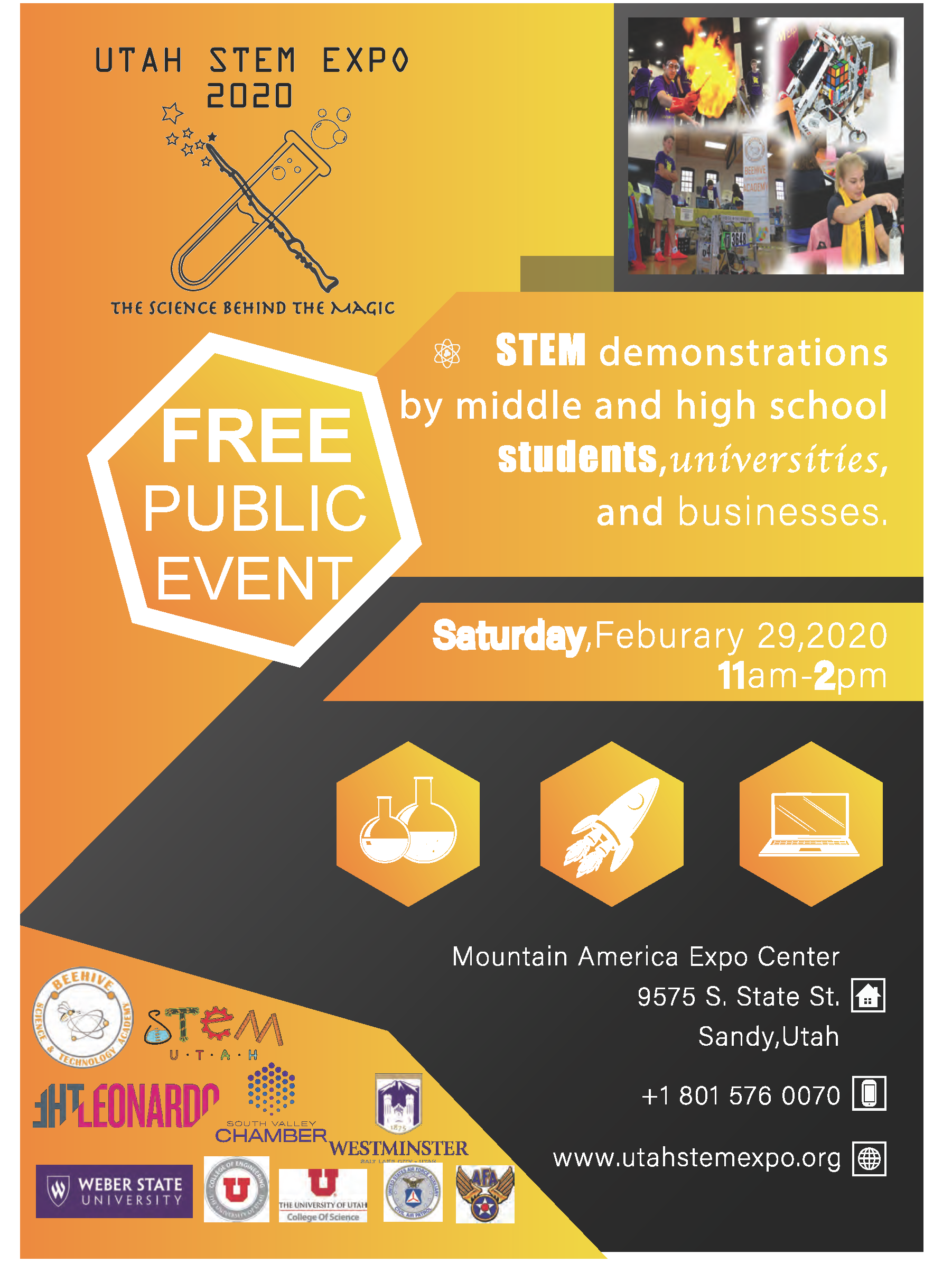 Utah Stem Expo, Beehive Science And Technology Academy At Throughout South Town Expo Schedule Utah