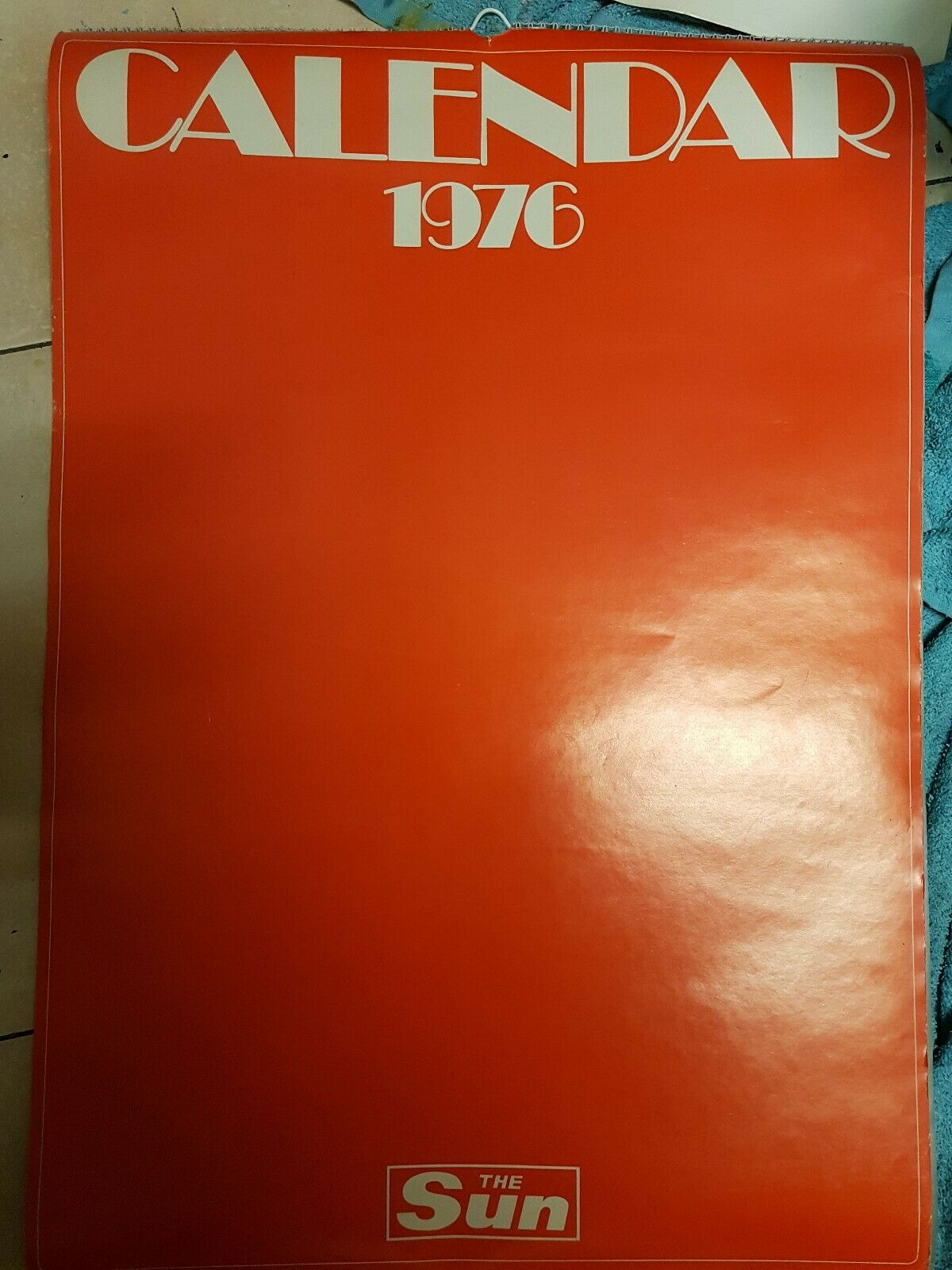 Vintage 1976 The Sun Page 3 Official Calendar ~ Mint Condition Within Sun Page 3 Calenders