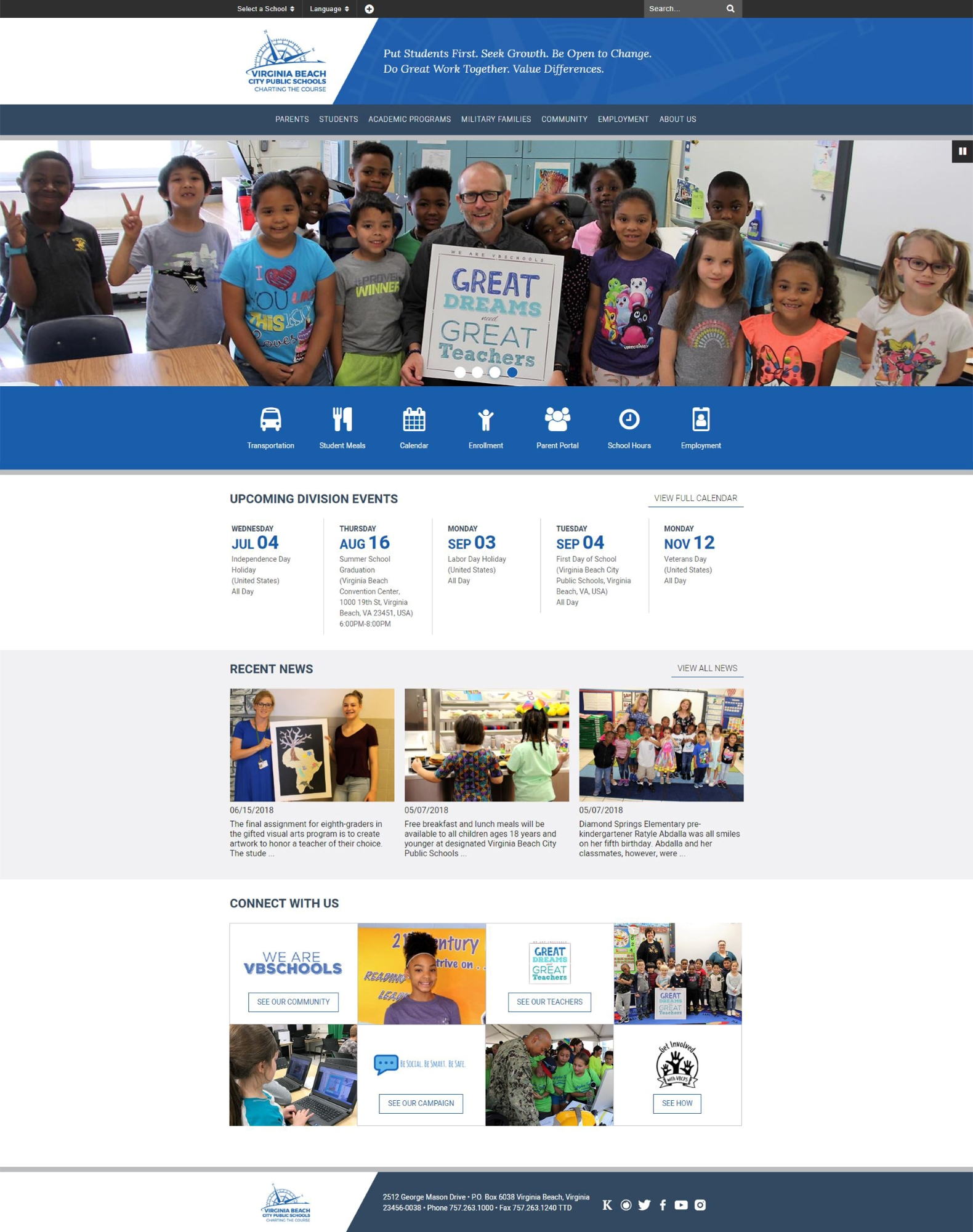 Virginia Beach City Public Schools Unveils Redesigned For Virginia Beach City Public.schools Calendar