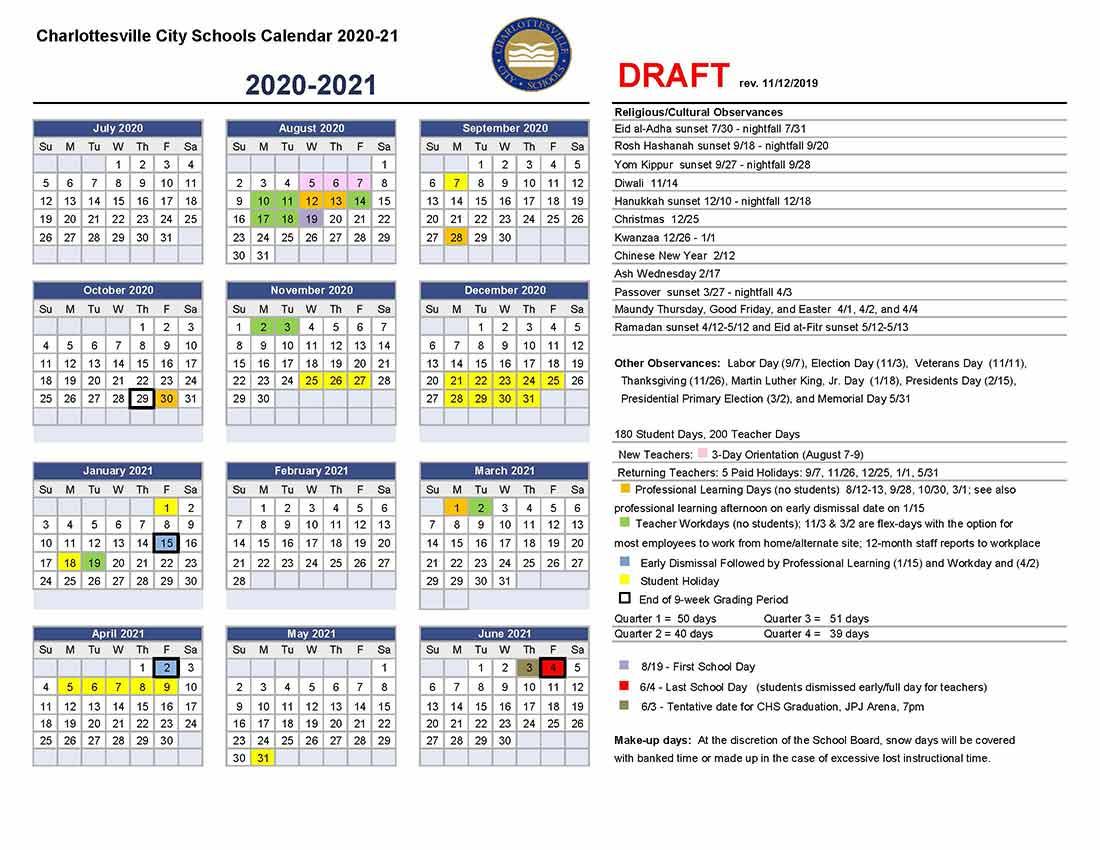 Walker | Charlottesville City Schools For Ogden City School Calendar 2021