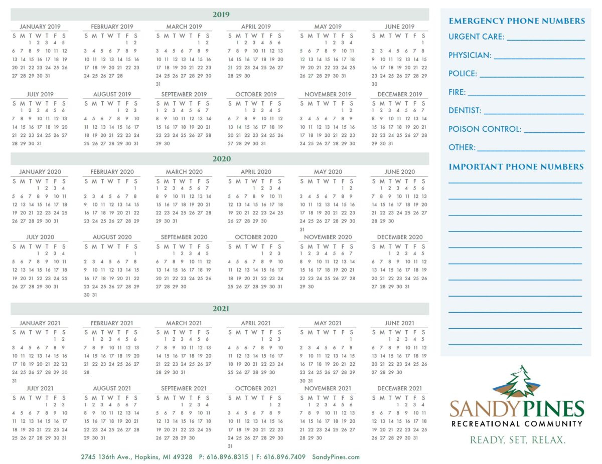 Wall Calendars – Sandy Pines Intended For Cape May Calendar Of Events 2021