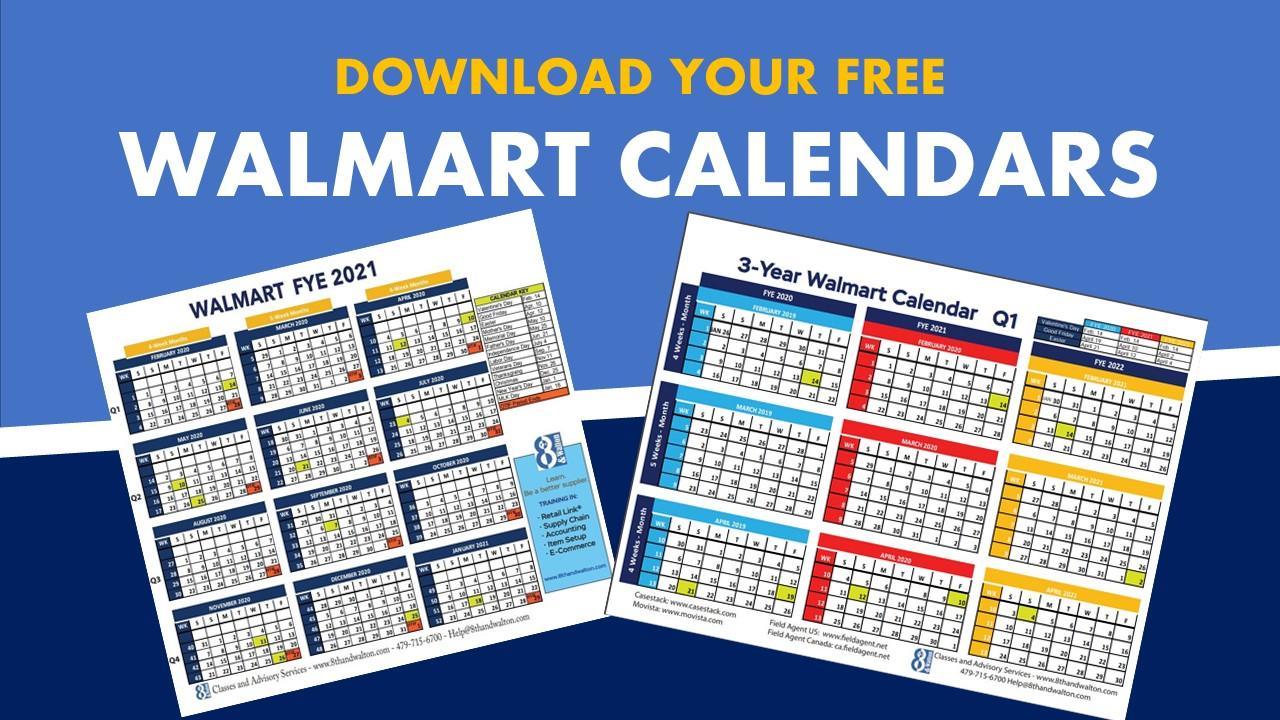 Walmart Fiscal Year Calendar   2020 – 2021   Free Download With Regard To 4 5 4 Retail Calendar 2021