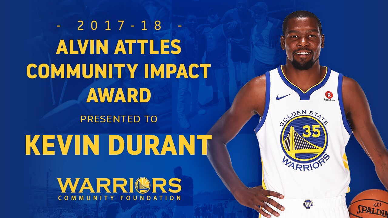 Warriors Forward Kevin Durant Earns Alvin Attles Community Inside Boys And Girls Club Of Durant Year Calender