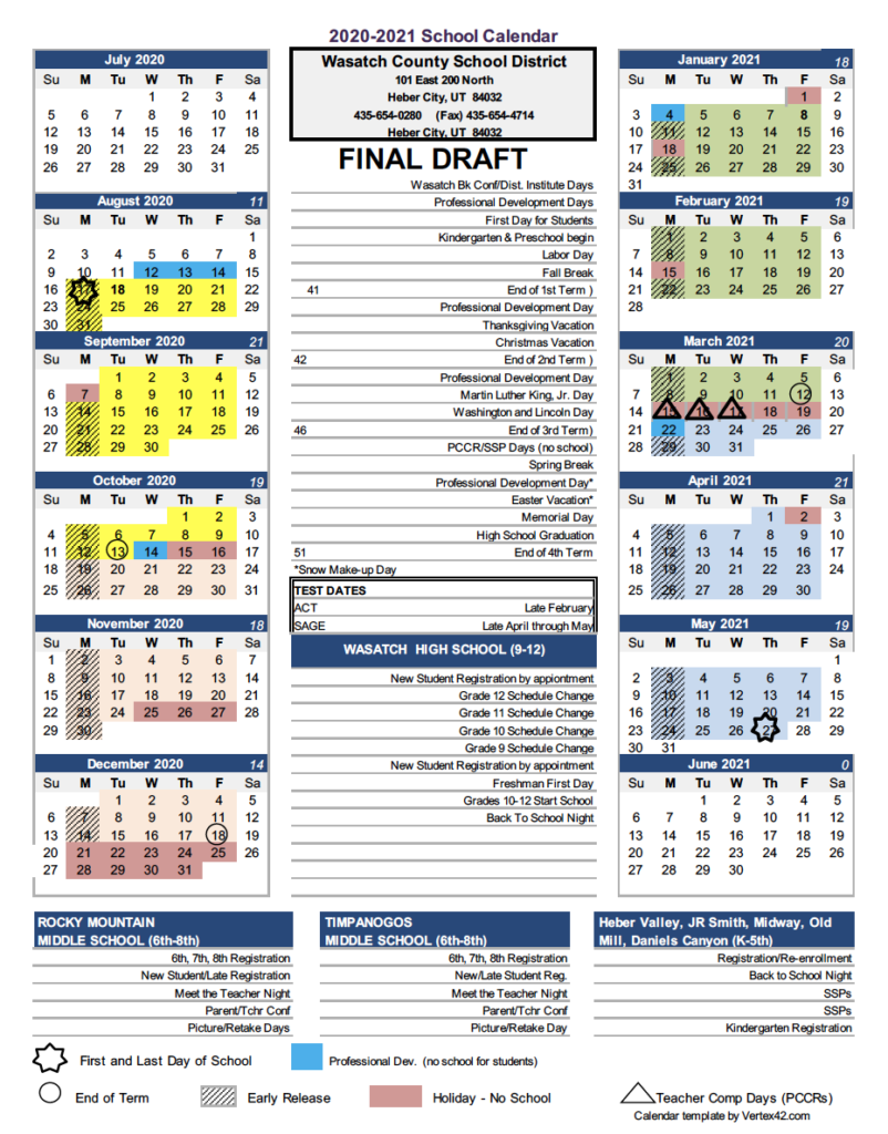 Wasatch School District Reviews A Proposal To Change The Inside Ogden City School Calendar 2021