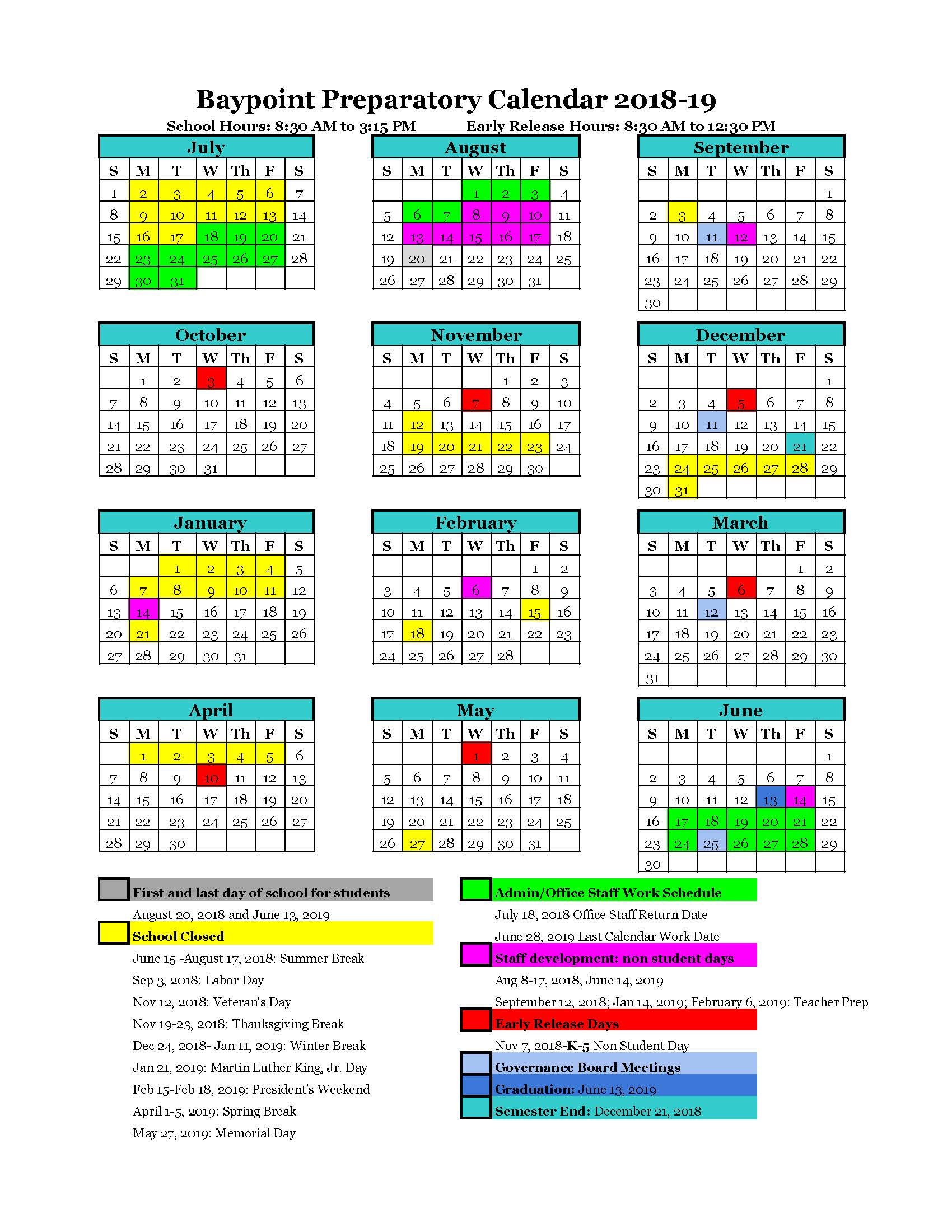 Welcome To The Campus Calendar For Temecula School District Calendar