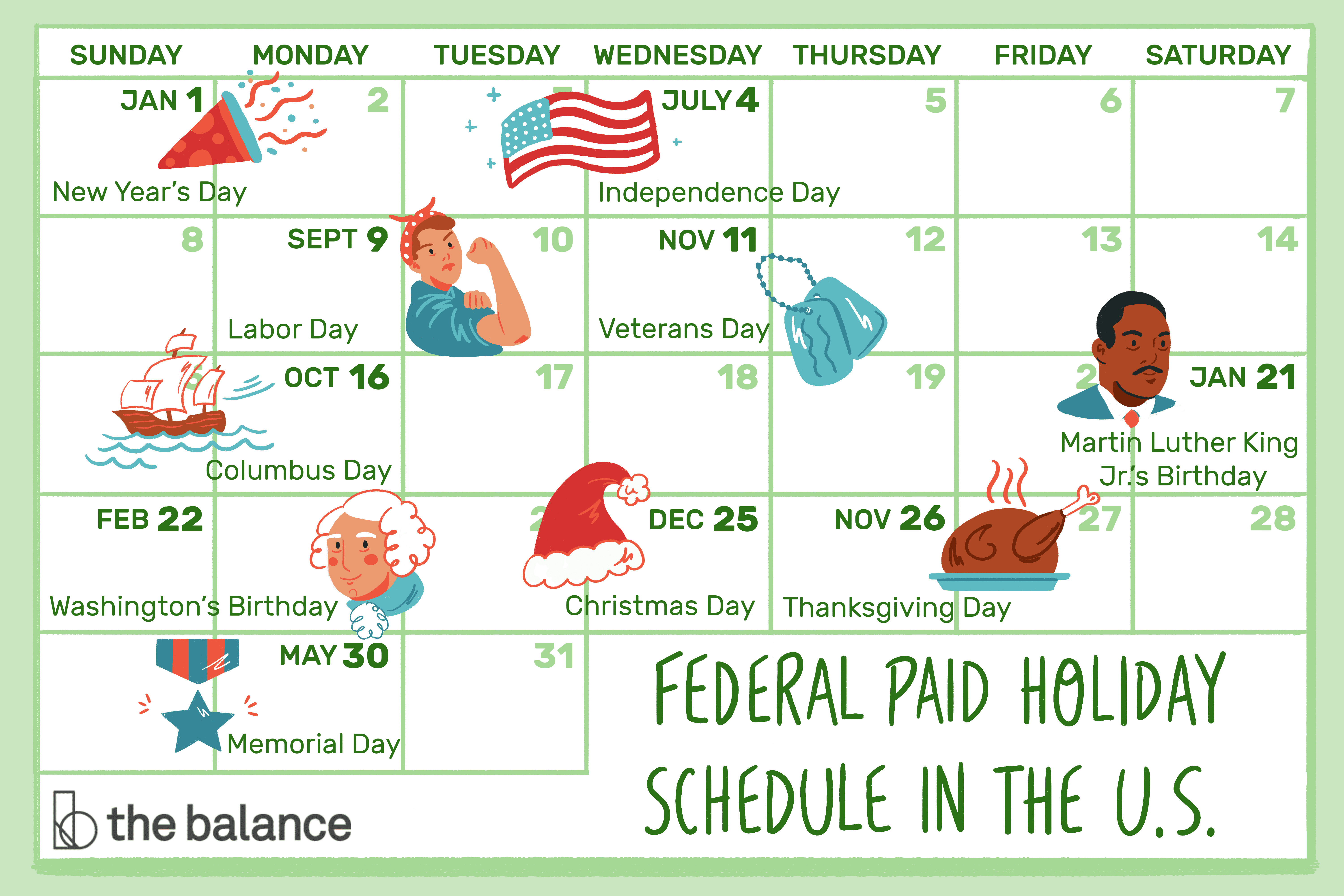 What's A Typical Paid Holiday Schedule In The U.s.? Within Every Day Is A Holiday Calendar