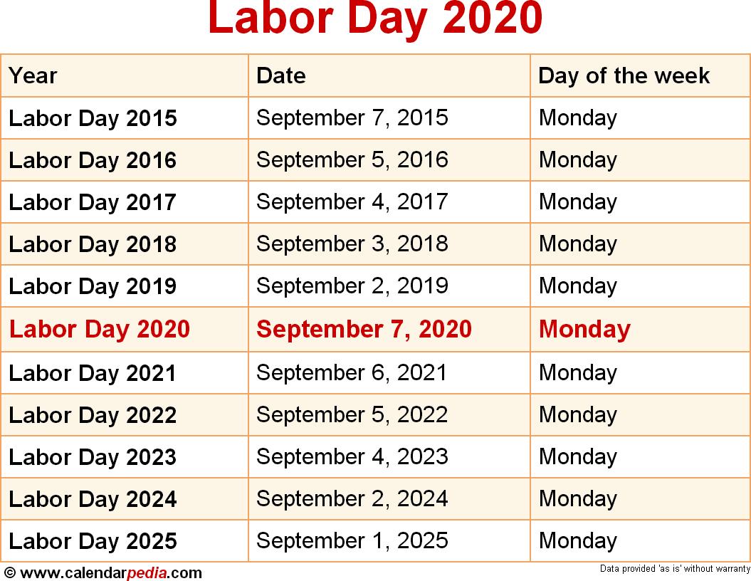 When Is Labor Day 2020? inside Canton Trade Days 2021 Calendar