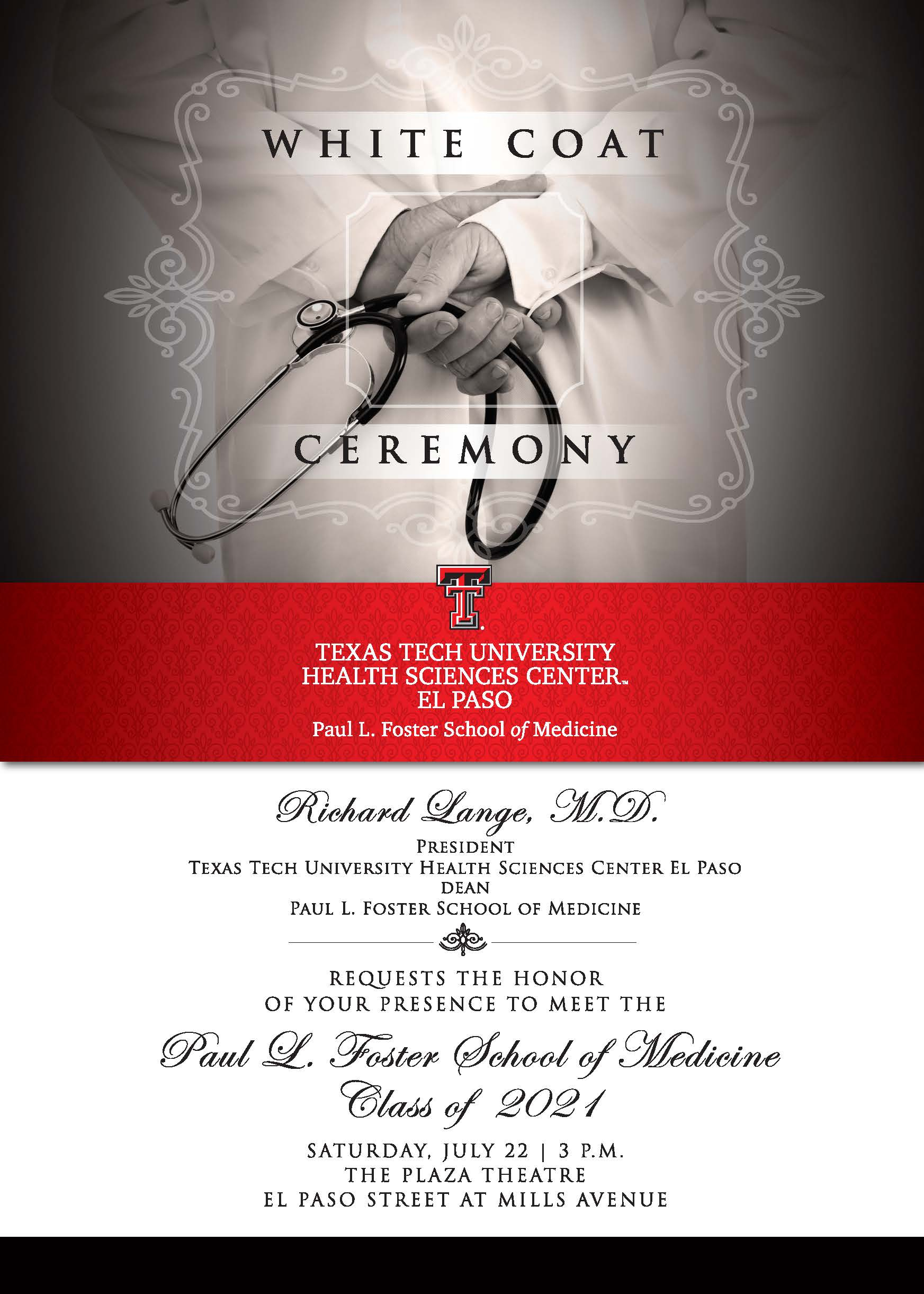White Coat Ceremony - July 22 regarding Texas Tech Calendar For 2021 -2020 Academic