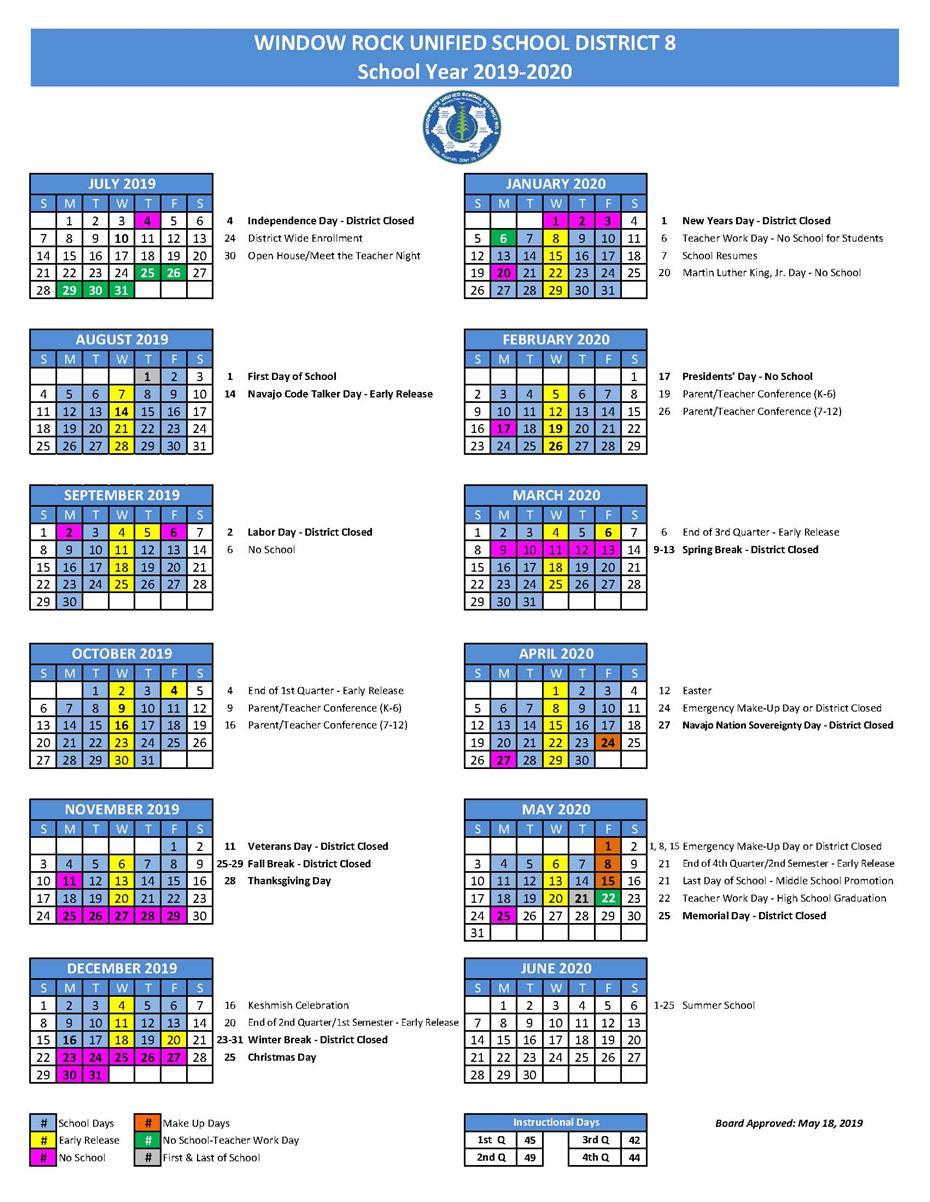 Window Rock High School / Homepage In Miller Place School Calendar
