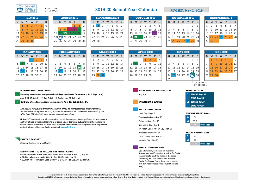 Winter Break 2020 | Denver Public Schools pertaining to School District 93 Calendar For 2020 -2021