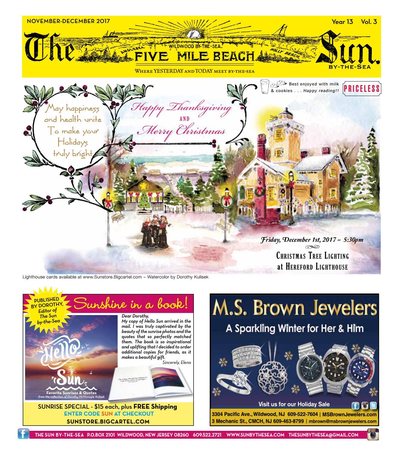 Winter Holiday Sun 2017The Sun By The Sea - Issuu Pertaining To Order Wildwood Nj Usa Tourist Brochure