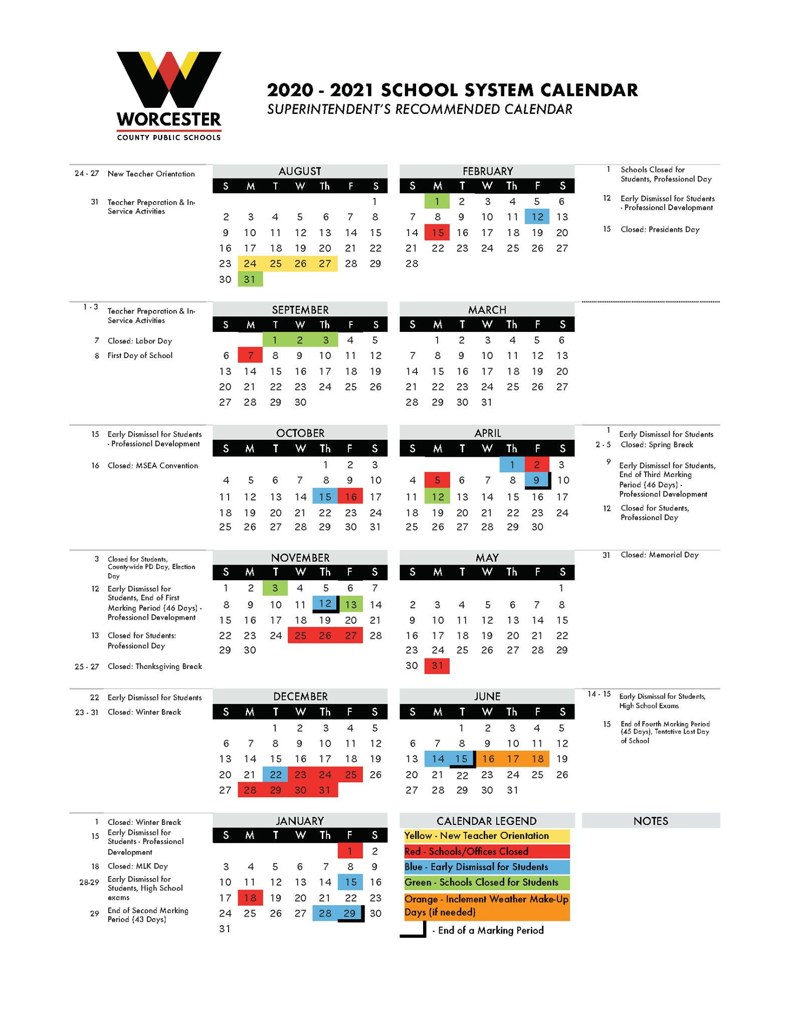 02/19/2020 | County Stays With Post Holiday Start; Survey For Richmond Countyboard Of Education 2021 Calendar