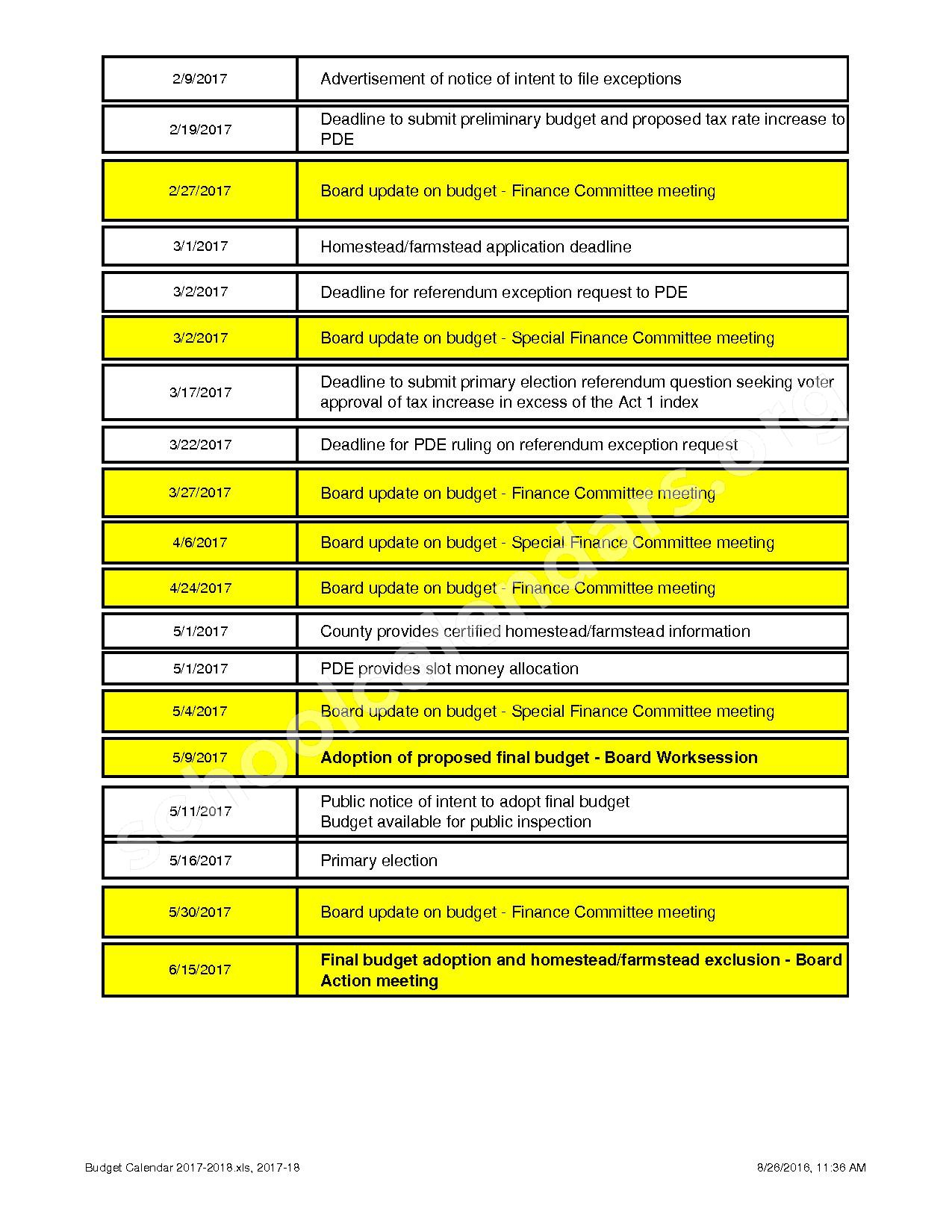 2017 - 2018 School Calendar | North Penn School District within North Penn School District Calendar