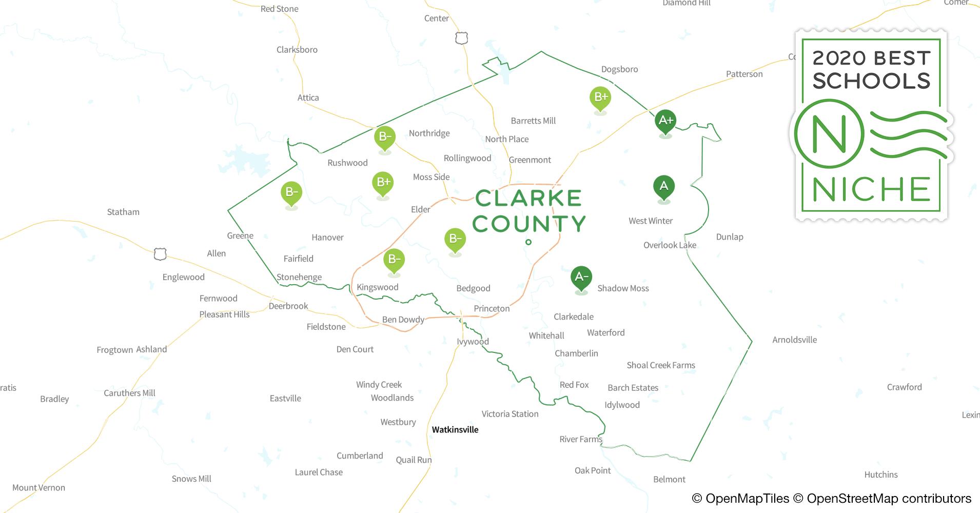 2020 Best Public Elementary Schools In Clarke County, Ga – Niche Regarding Athens Clarke County School Schedule