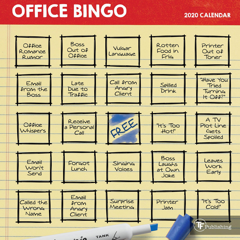 2020 Office Bingo Mini Calendar regarding Turning Stone Bingo Calendar For February 2020