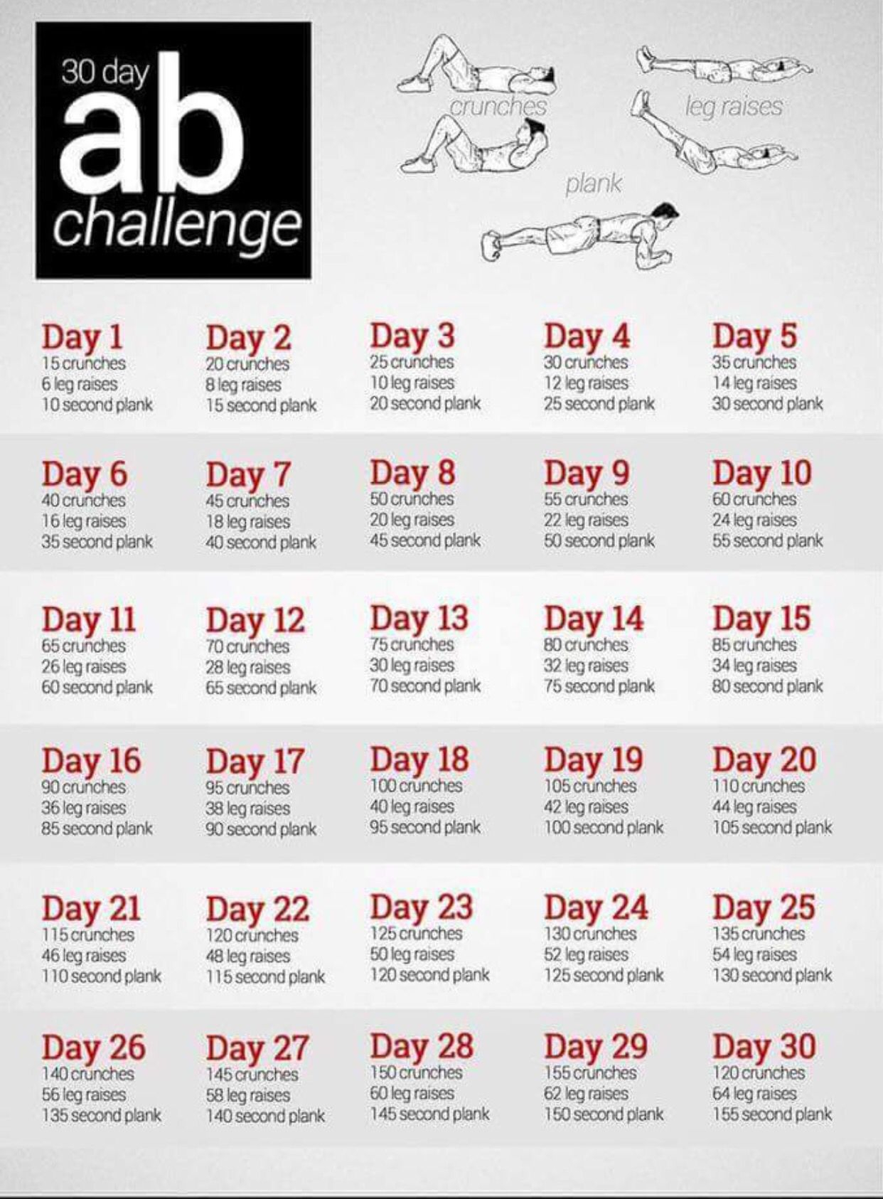 30 Day Ab Challenge | 30 Day Ab Workout, 30 Day Ab Challenge Regarding 30 Day Ab Workout Schedule