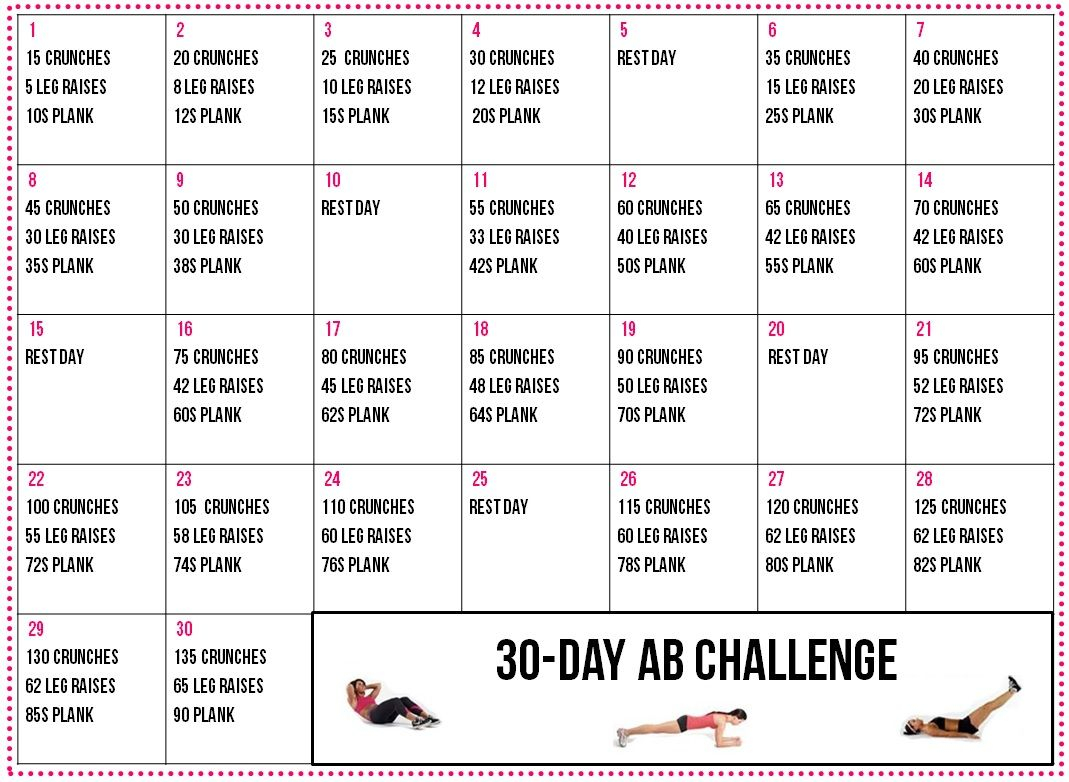 30 Day Fitness Challenge |  Guide 30 Day Fitness Throughout 30 Day Tummy Challenge Calendar