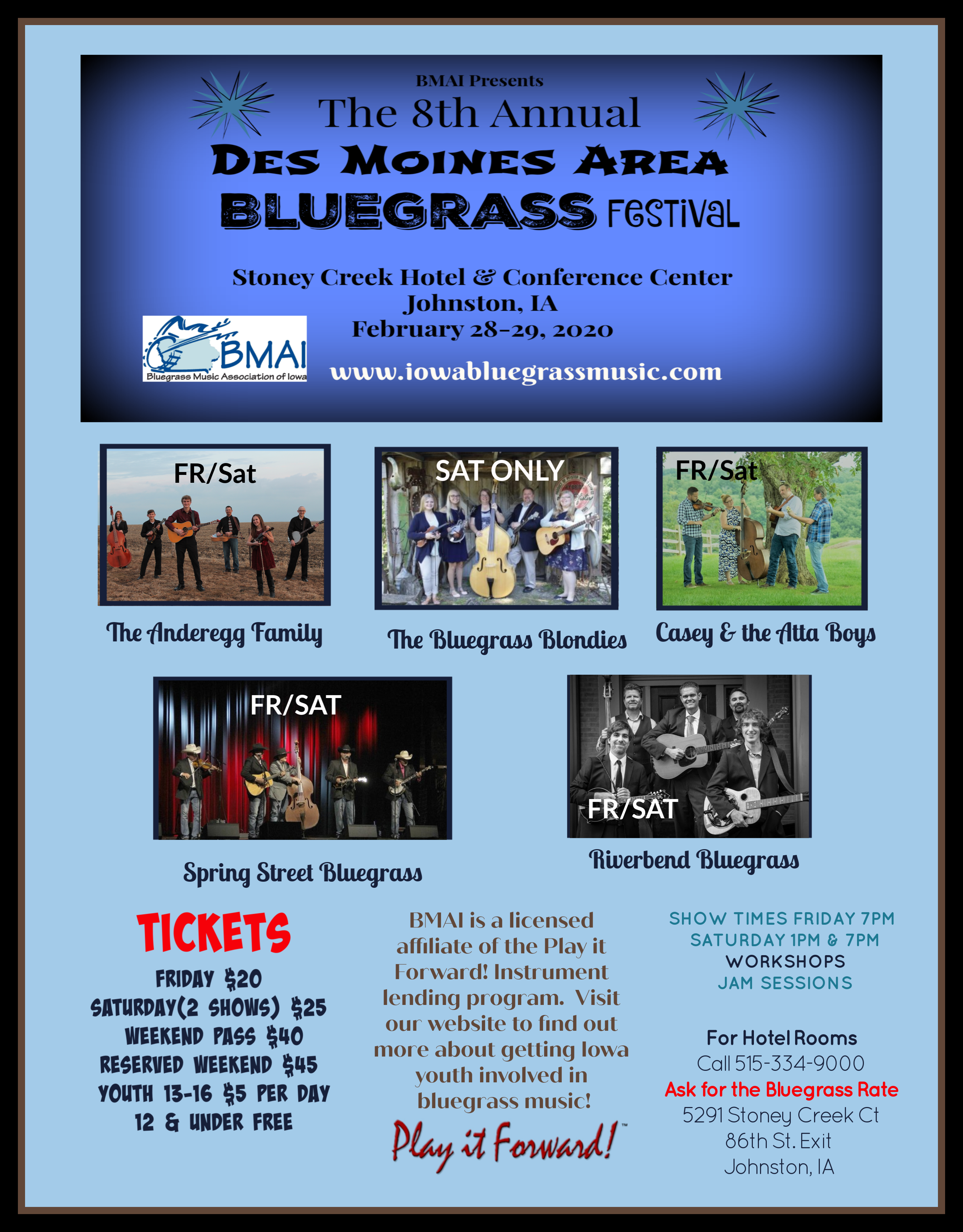 8Th Annual Bmai Dsm Area Bluegrass Festival Within Des Moines Calendar Of Events 2021