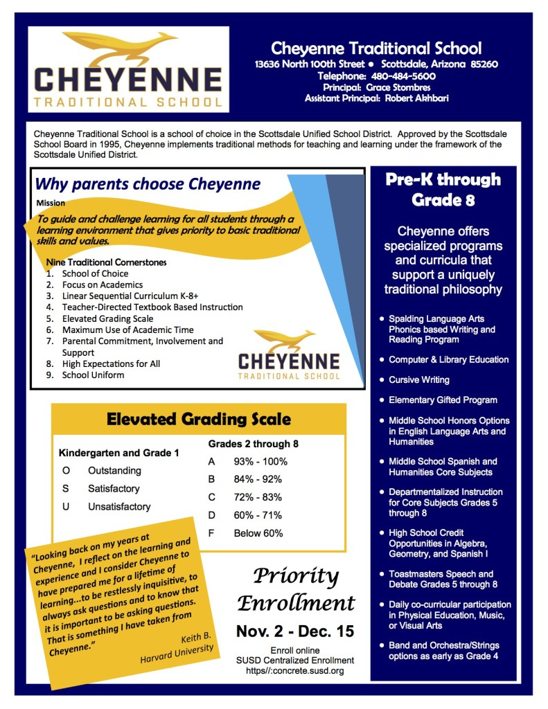 About Cts – Cheyenne Traditional School Pto In Scottsdale Unified School District Calendar
