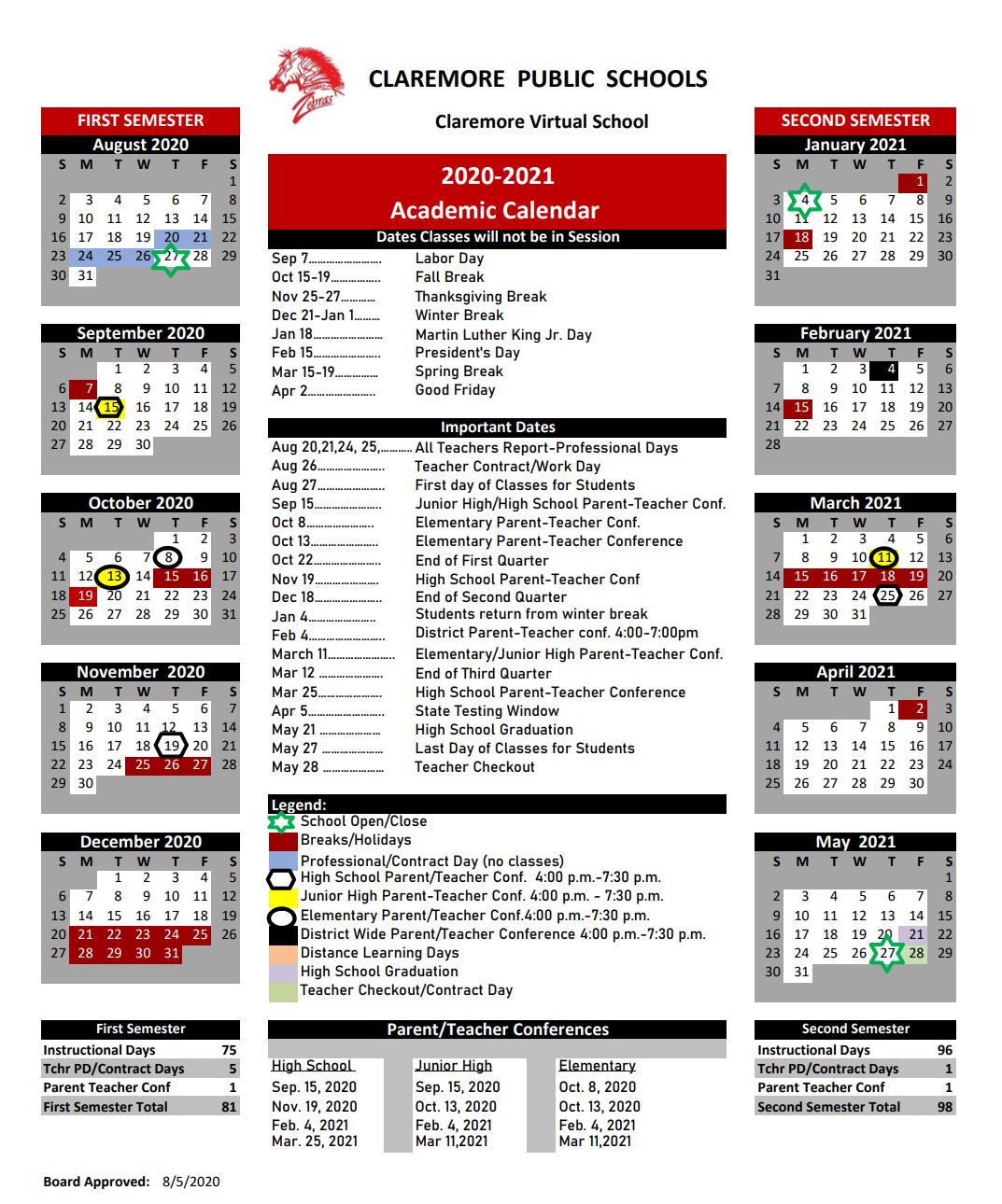 Academic Calendars Inside Academic Calendar 2021 Tulsa University
