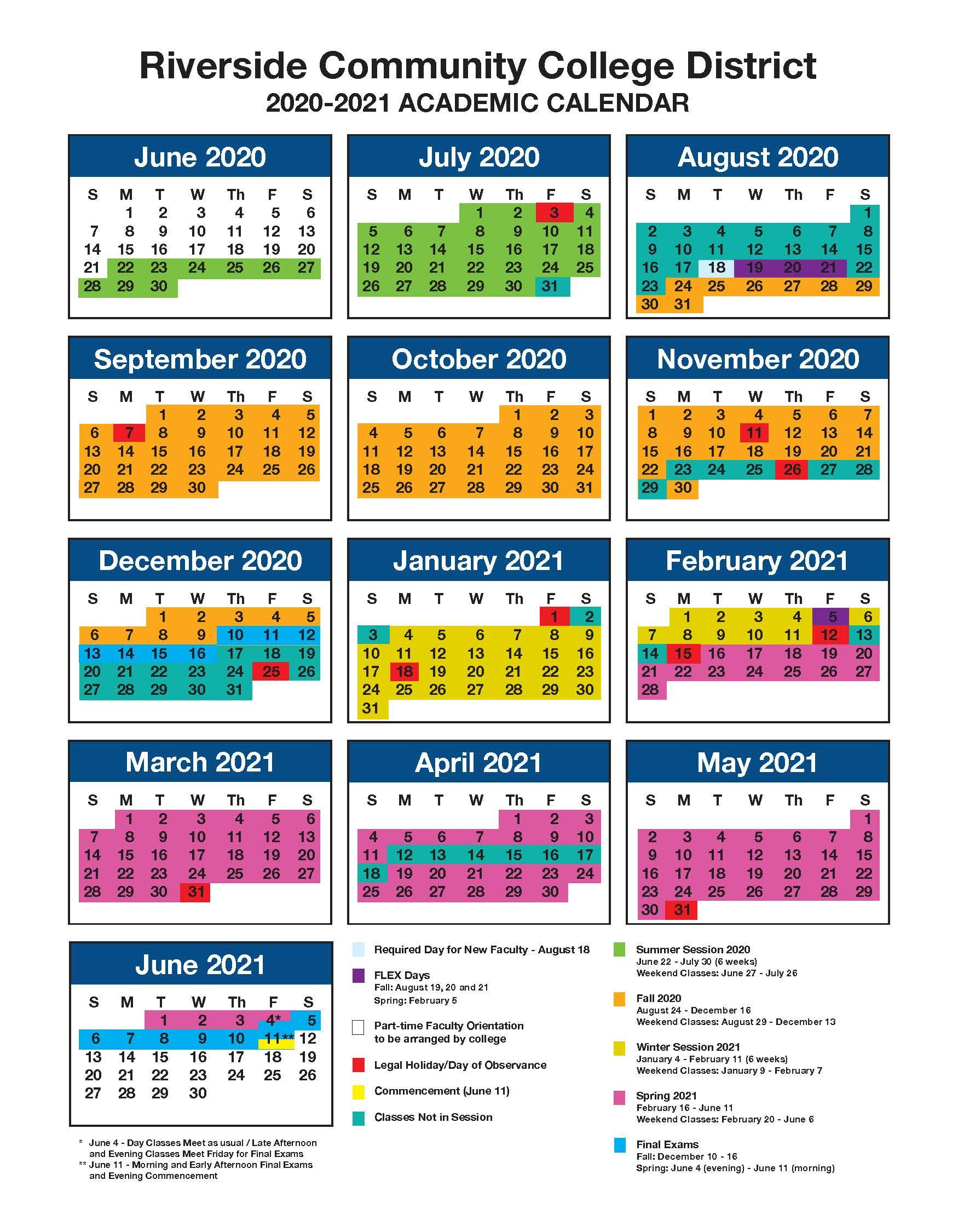 Academic_Calendar inside Norco College Academic Calendar 2021-2020