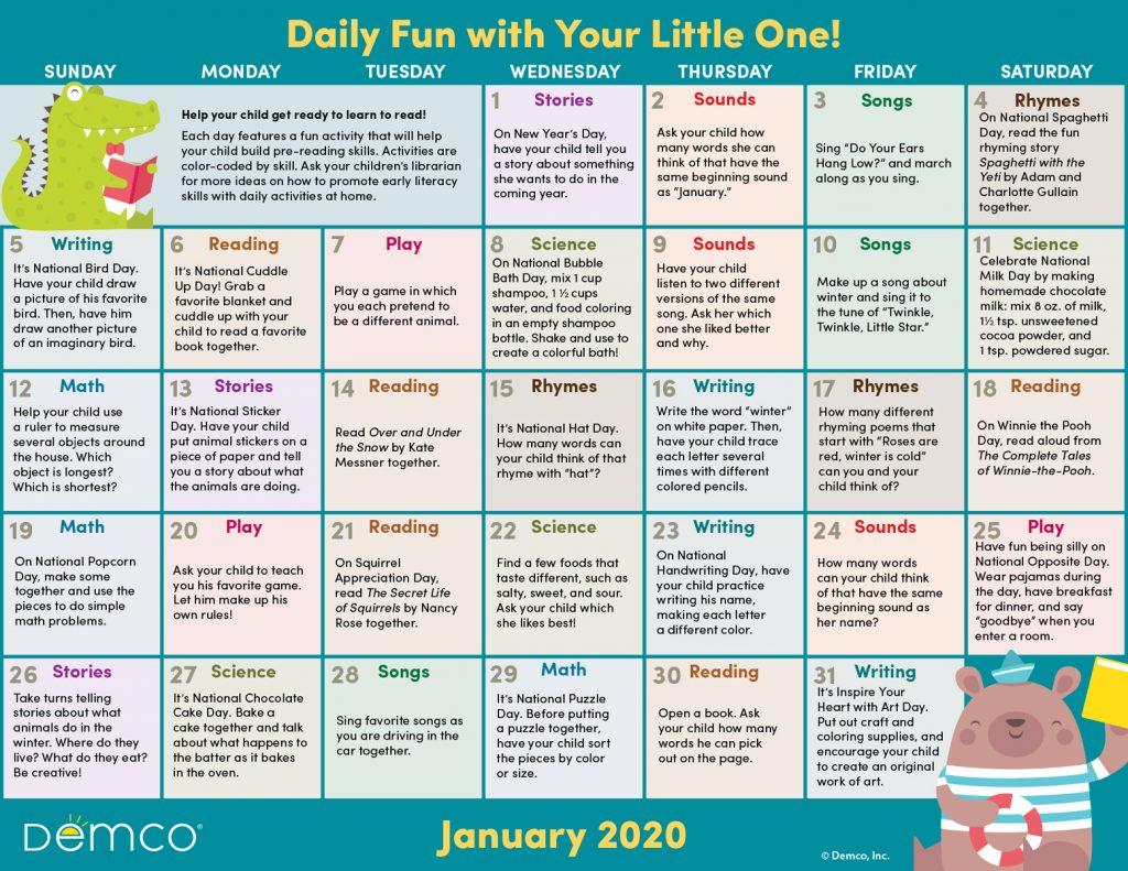 Activity Calendar Archives – Ideas & Inspiration From Demco Inside Little Rock January Event Calendar