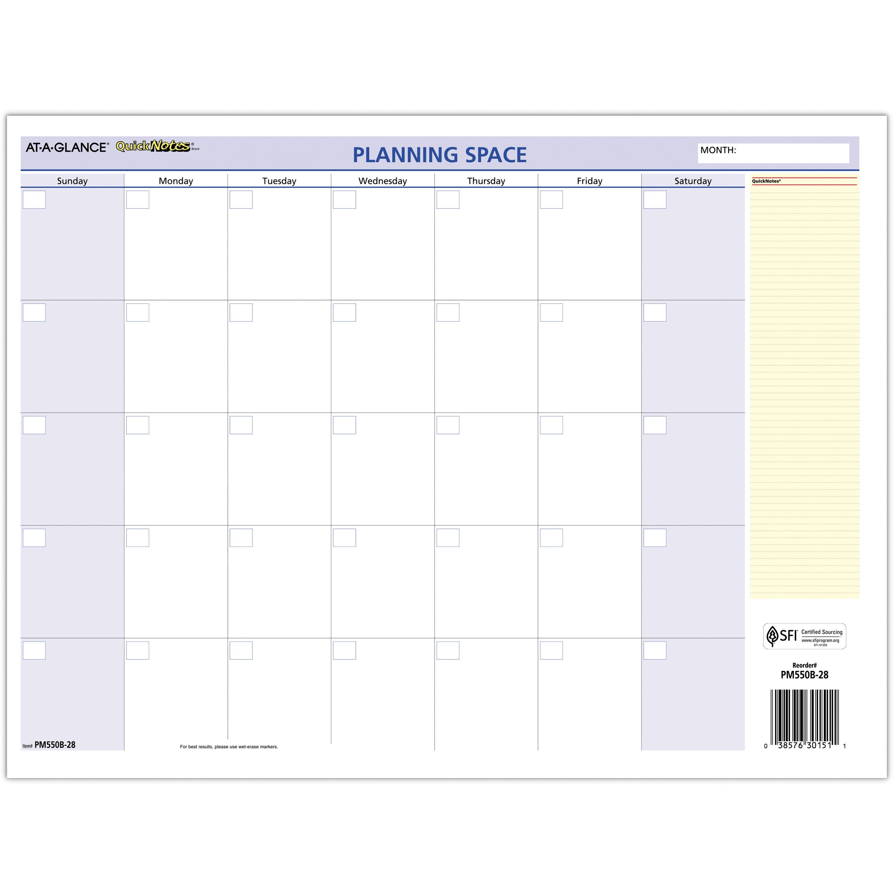 """At A Glance Quicknotes Mini Erasable Yearly Wall Planner – January 2021  Till December 2021 – 12 45/64"""" X 15 45/64"""" Sheet Size – 2"""" X 1.87"""" Block – With Grand Ledge School Calendar 2021"""