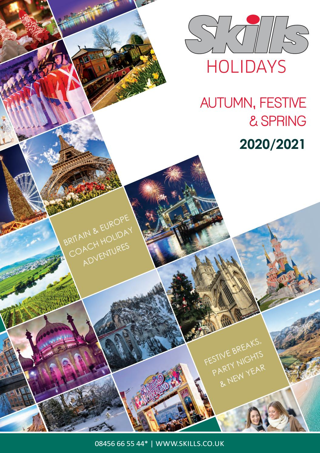 Autumn, Festive & Spring 2020/2021 Holiday Brochure With University Of Glasgow Holiday Calender 2021