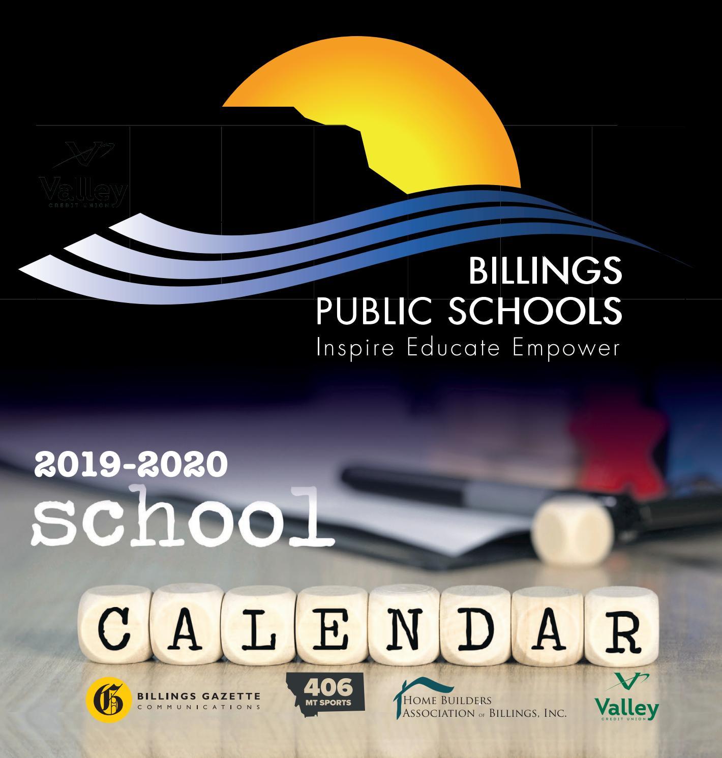 Billings Public Schools 2019 Calendarbillings Gazette Within Billings School District 2 Calander