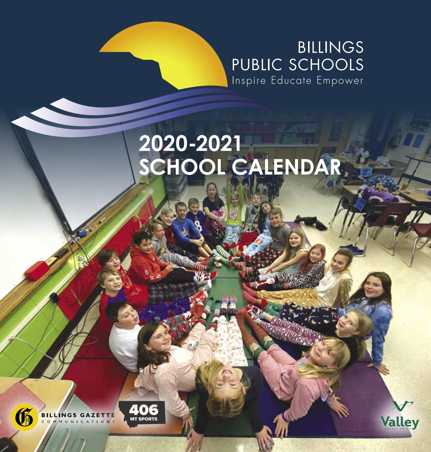 Billings School District 2 2020 2021 Calendarbillings With Billings School District 2 Calander